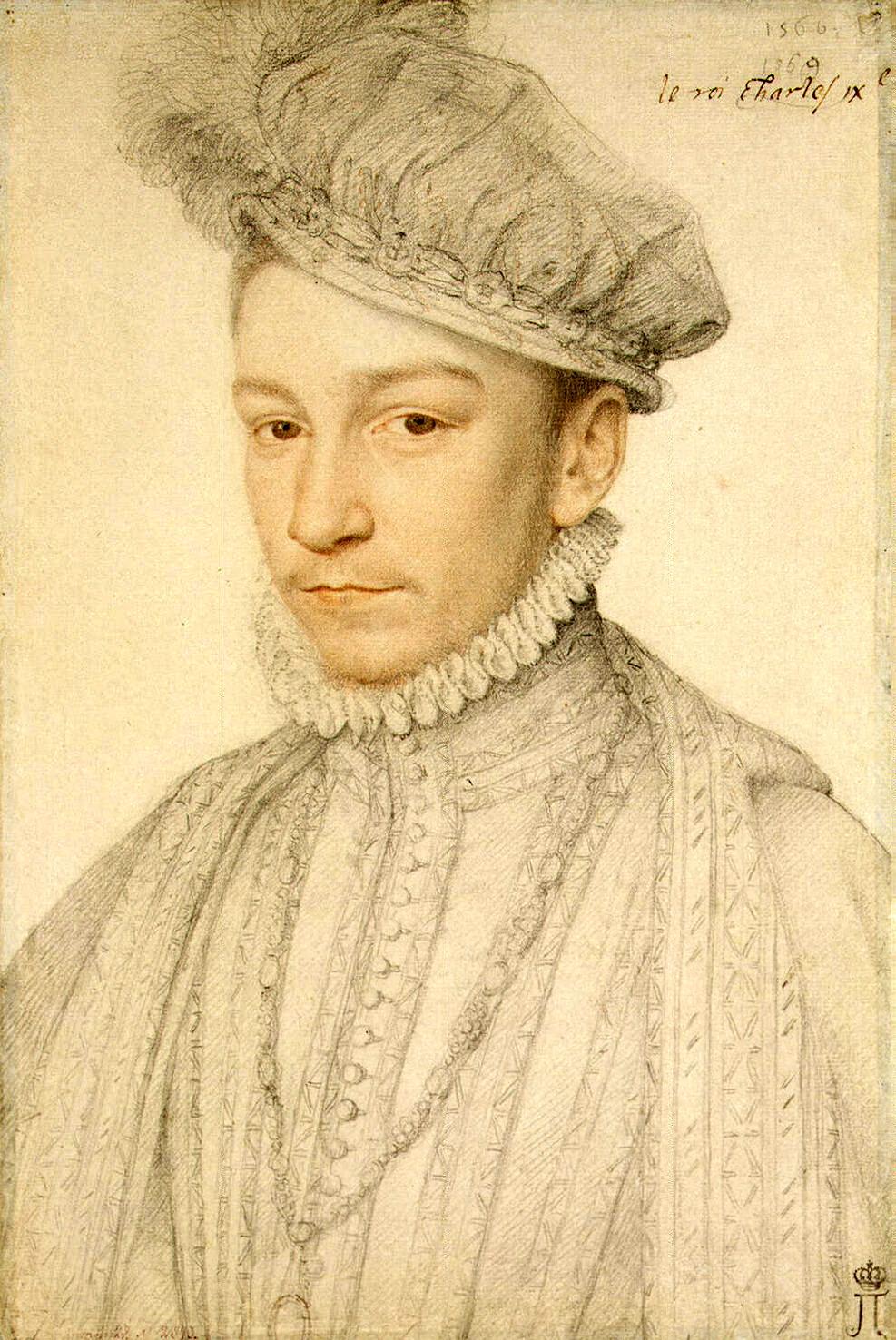 Francois Clouet. Portrait of Charles IX