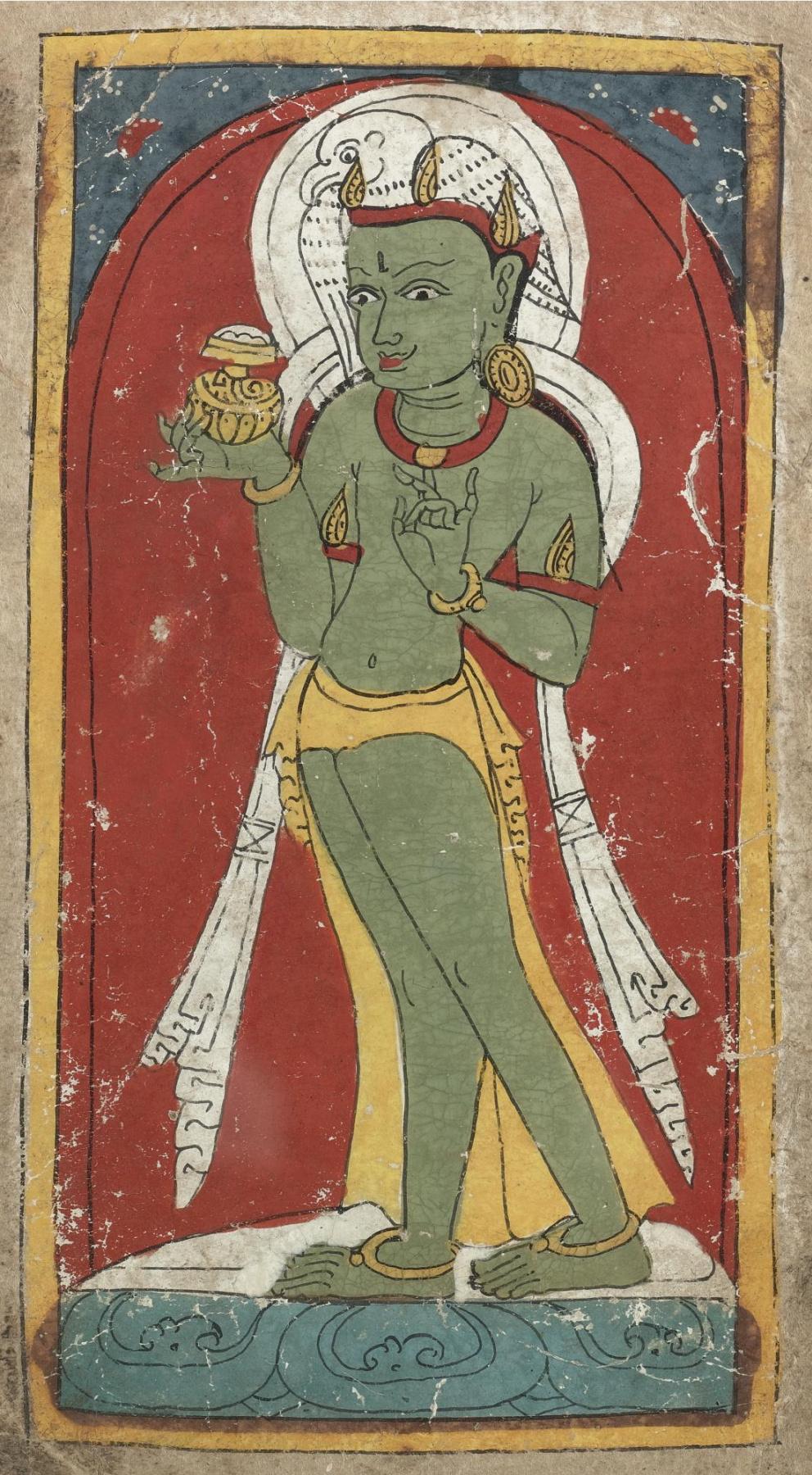 Unknown artist. Bonpo-tsakli, the deity of the teacher