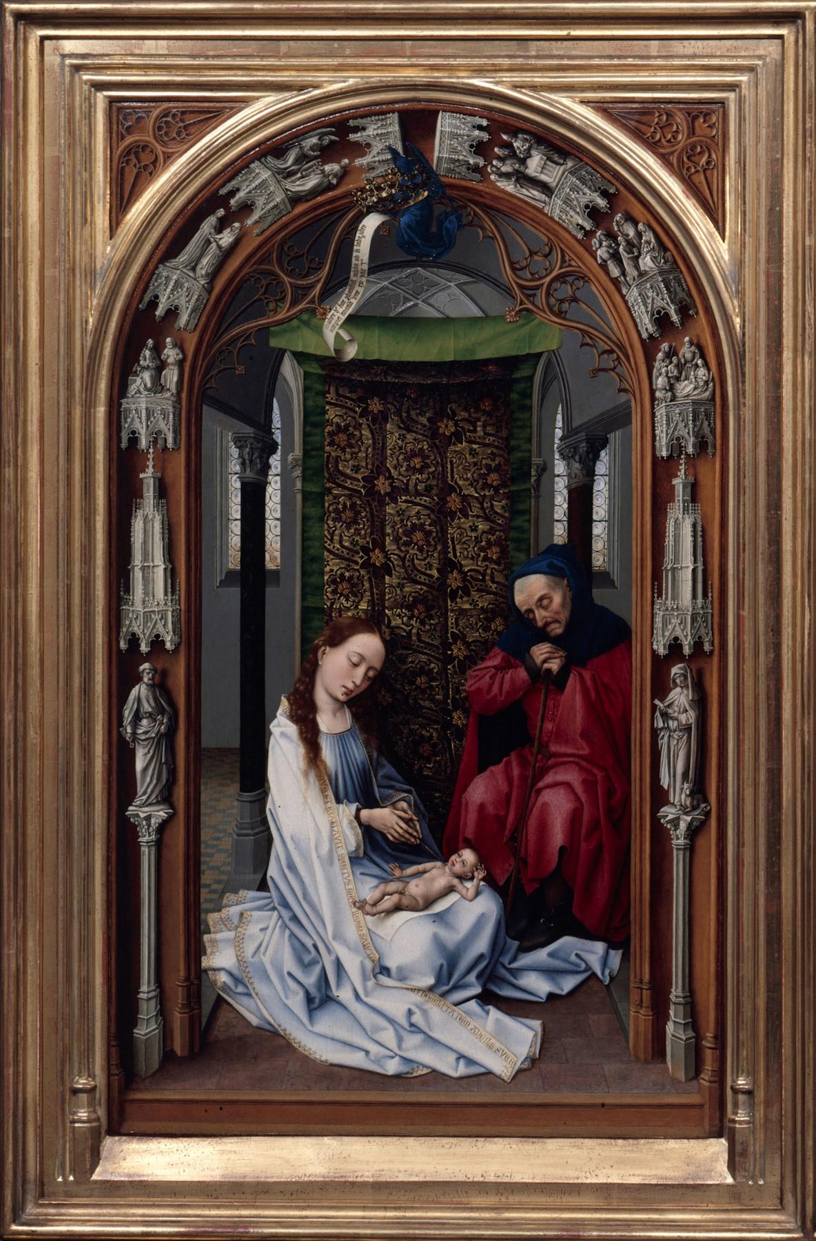 Rogier van der Weyden. The Miraflores Altar. Fragment