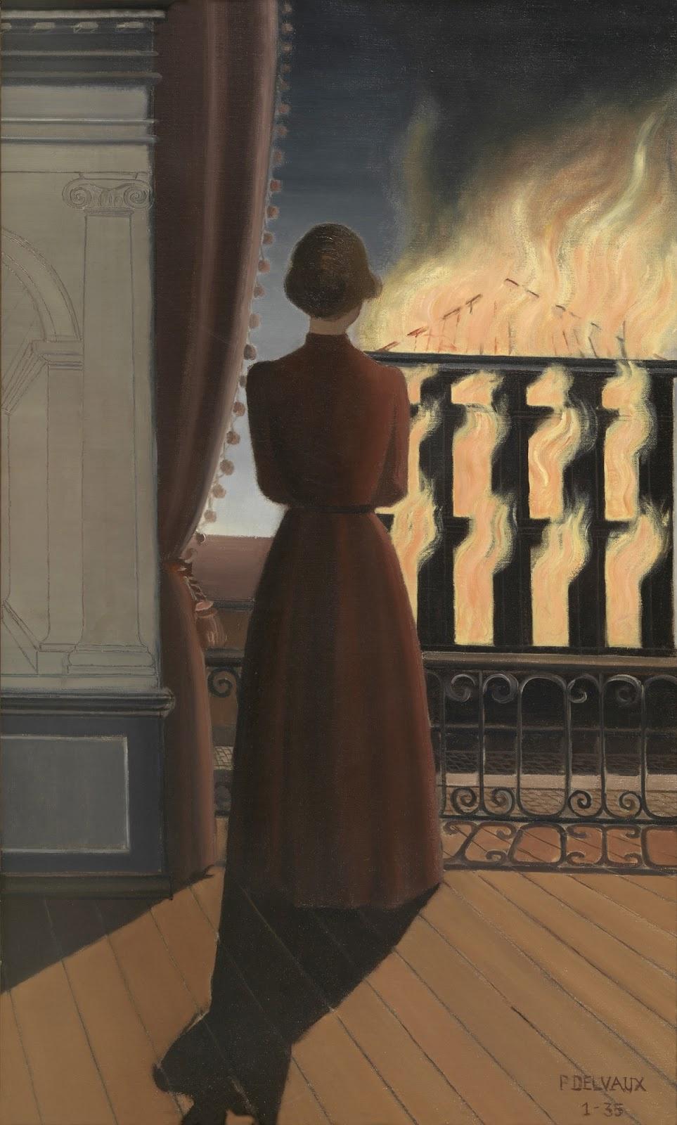 Поль Дельво. Пожар. 1935