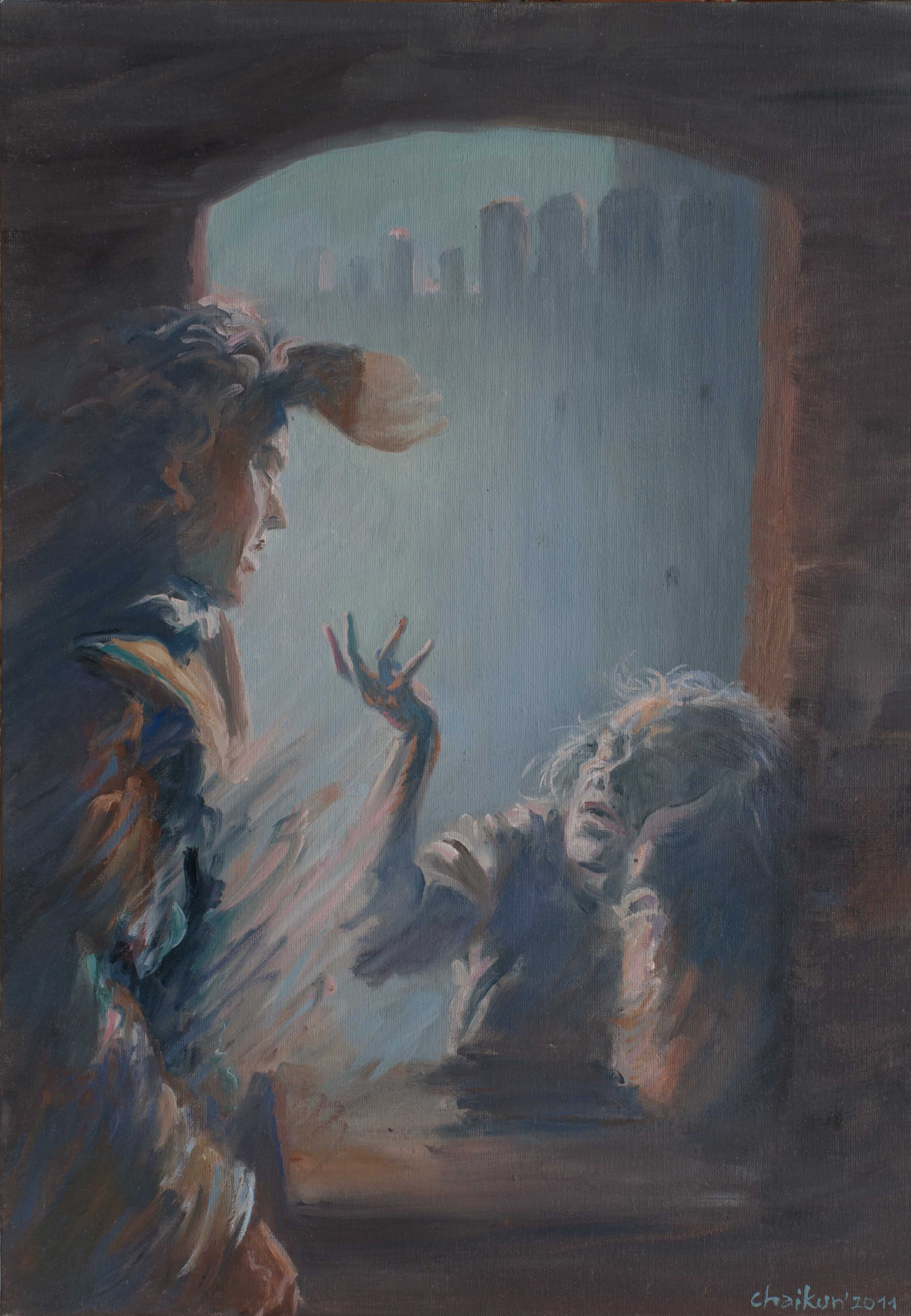 "Sergey Chaikun. Illustration for the Shakespeare's Anniversary Edition ""Hamlet"" of the VitaNova Publishing House, 2013"