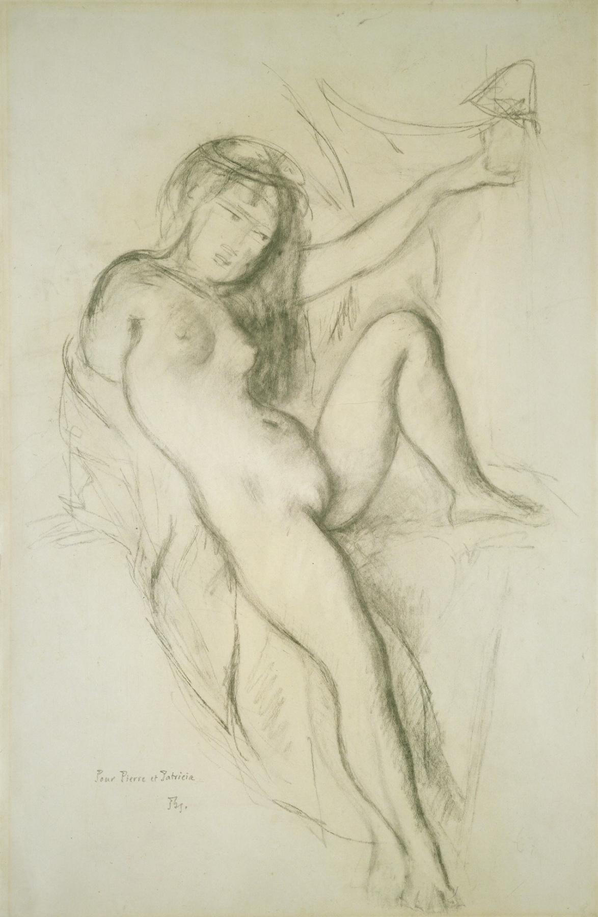 Balthus (Balthasar Klossovsky de Rola). Seated nude