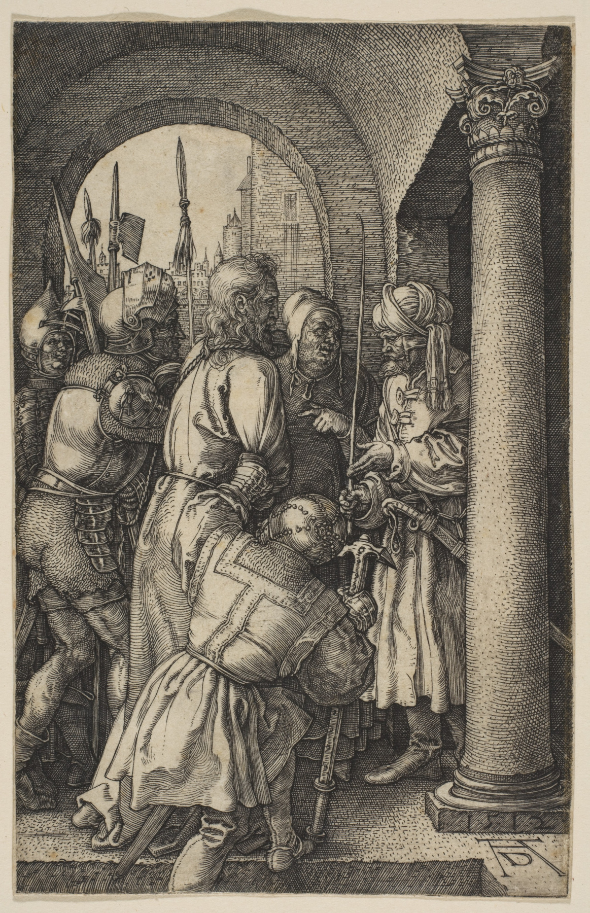 "Albrecht Durer. Christ before Pilate. From the cycle ""the passion of the Christ"""