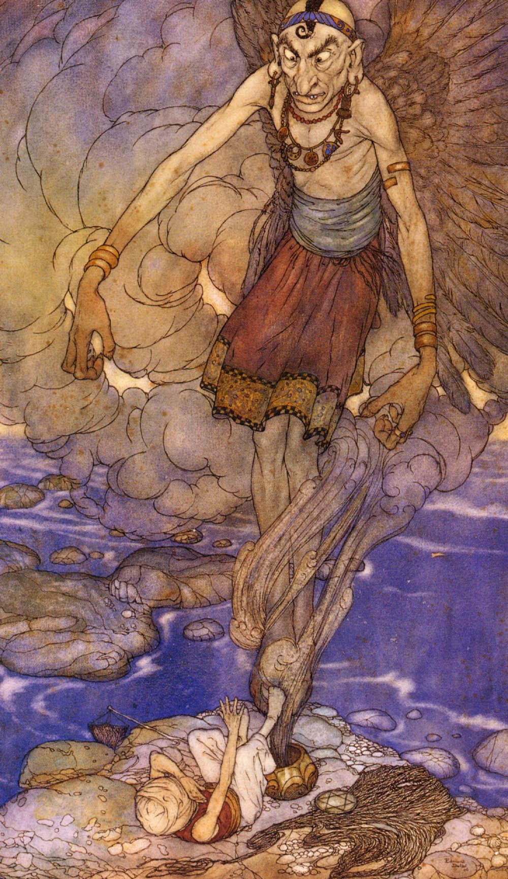Edmund Dulac. The tale of the fisherman and the story of the king of the Black Islands