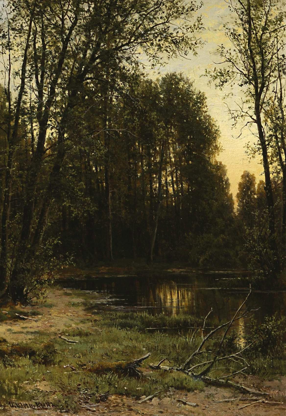 Ivan Shishkin. River Creek in the woods