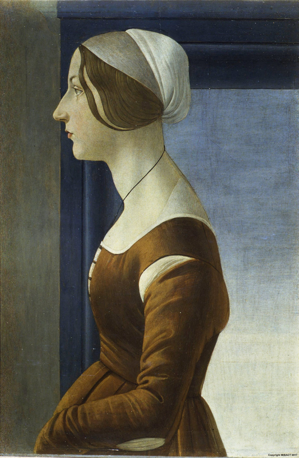 Sandro Botticelli. Portrait of a young woman
