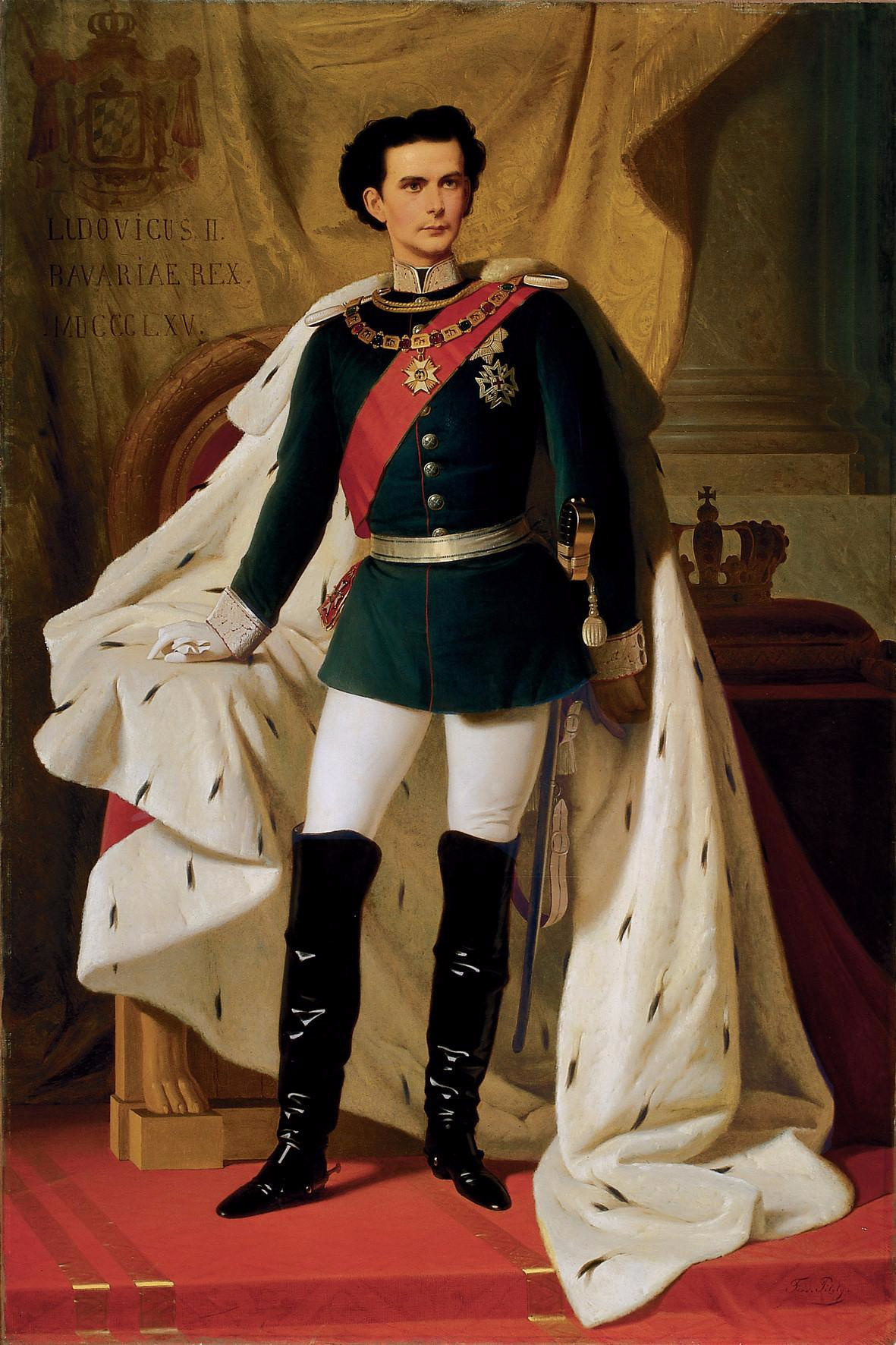 Ferdinand Von Pilots. Ludwig II of Bavaria in the coronation mantle