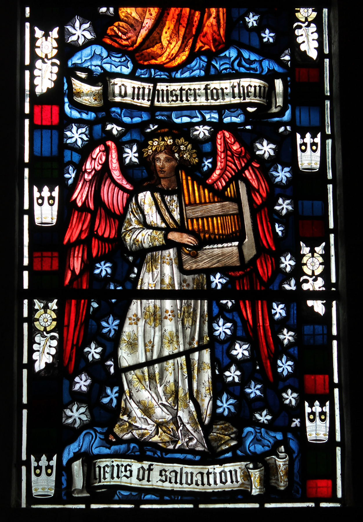 William Morris. Window of the southern passage in the church of St. Peter and Paul, Kattistok, Dorset (co-authorship with Edward Burne-Jones)