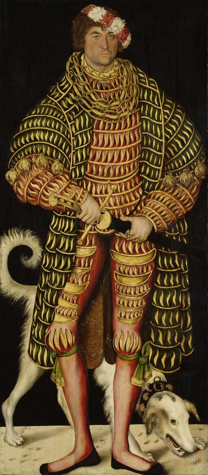 Лукас Кранах Старший. Портрет Генриха V Благочестивого, герцога Саксонского