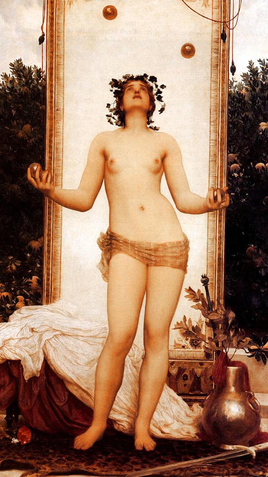 Frederic Leighton. Antique Juggling Girl