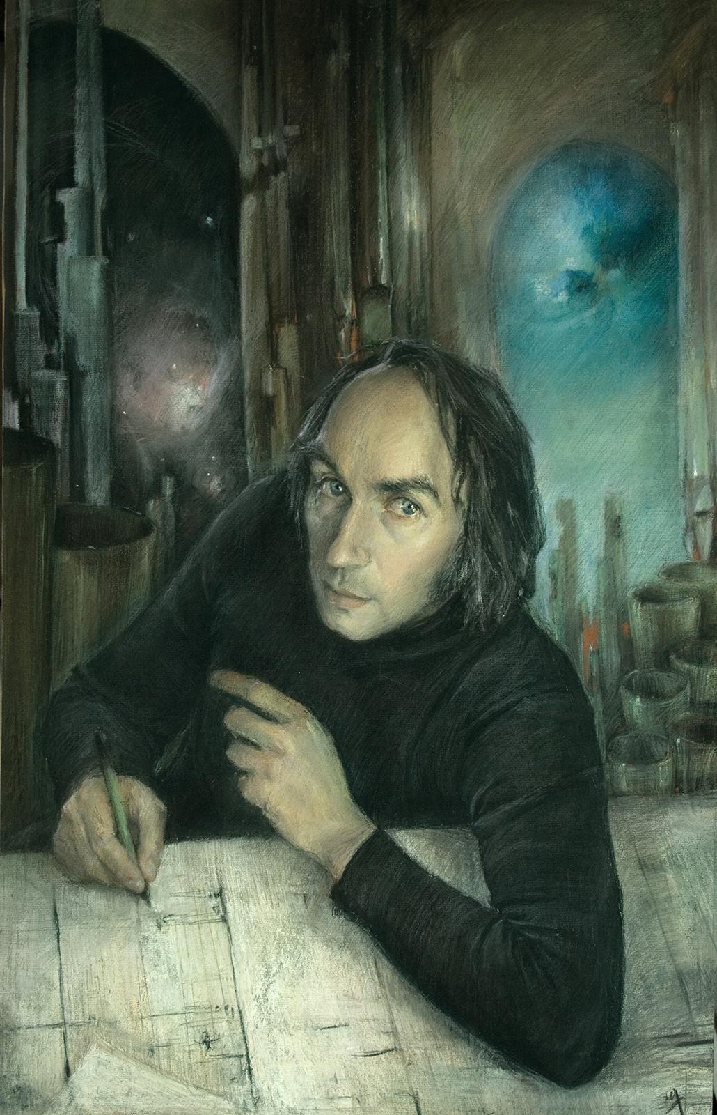 Tatiana Vasilyevna Gavrilenko. Portrait of composer Vladimir Guba