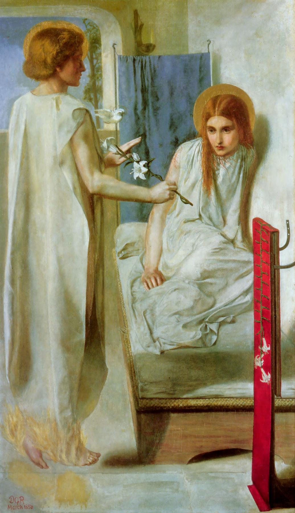 Dante Gabriel Rossetti. The Annunciation (I serve the Lord!)