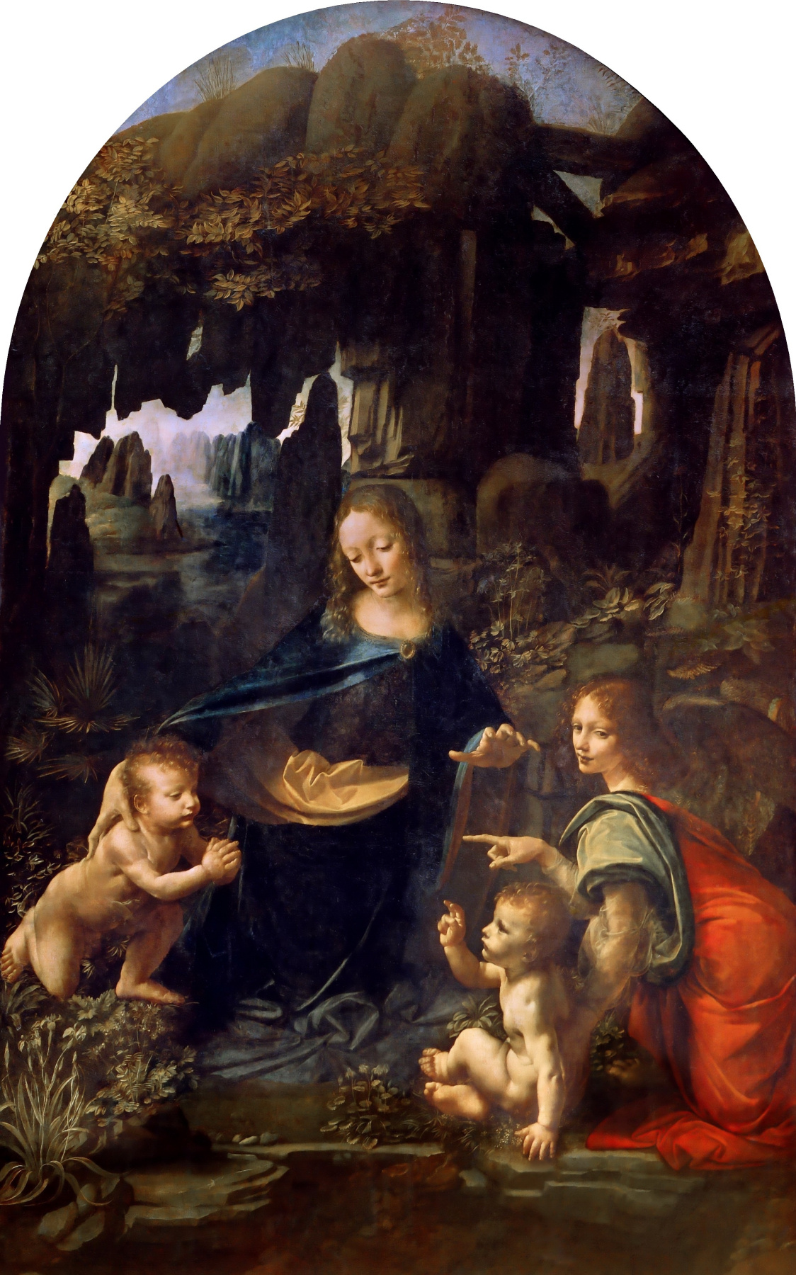Leonardo da Vinci. The Virgin of the Rocks (Madonna of the Rocks)