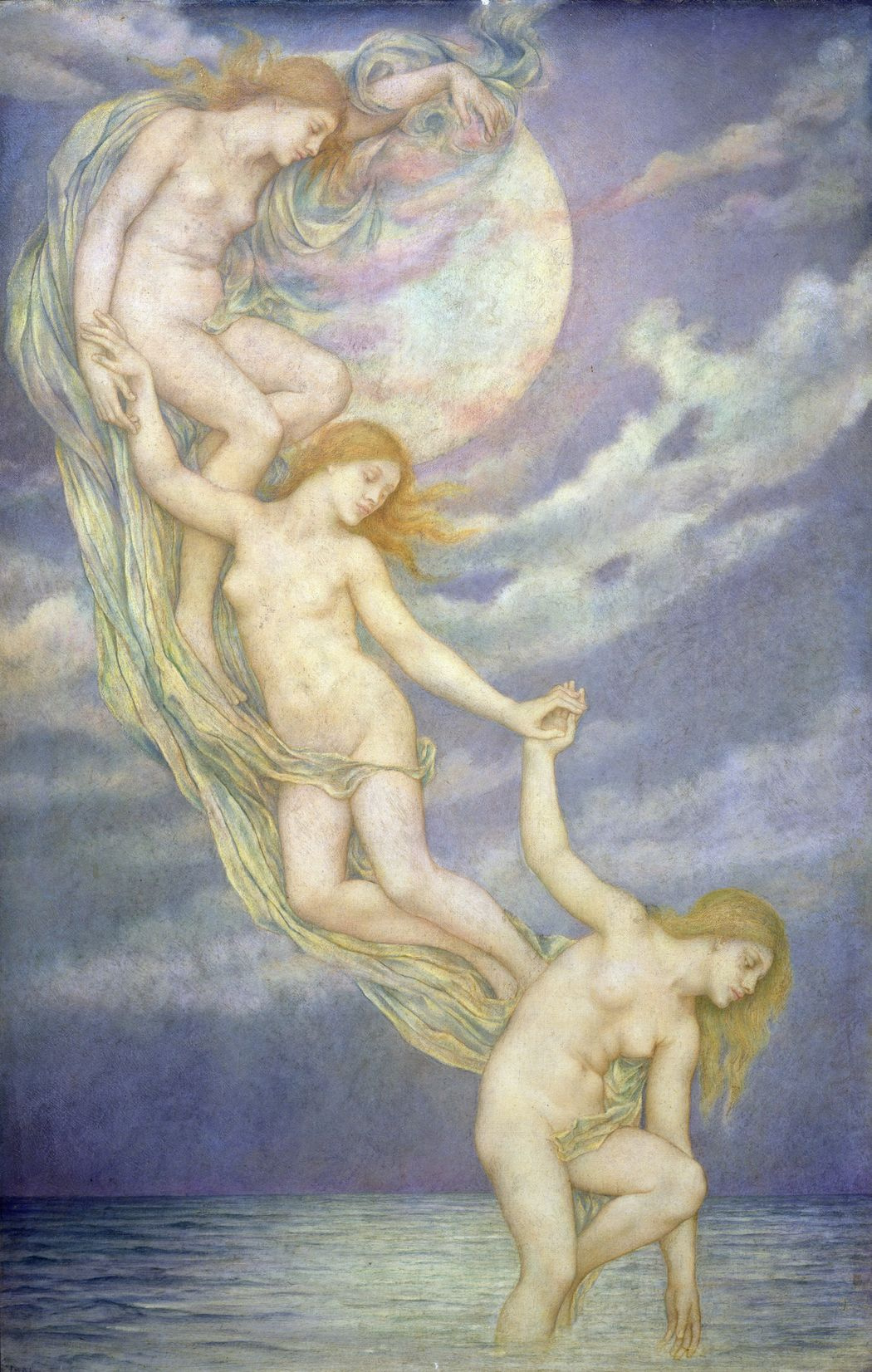 Evelyn De Morgan (Pickering). The rays of the moonlight, descending into the sea