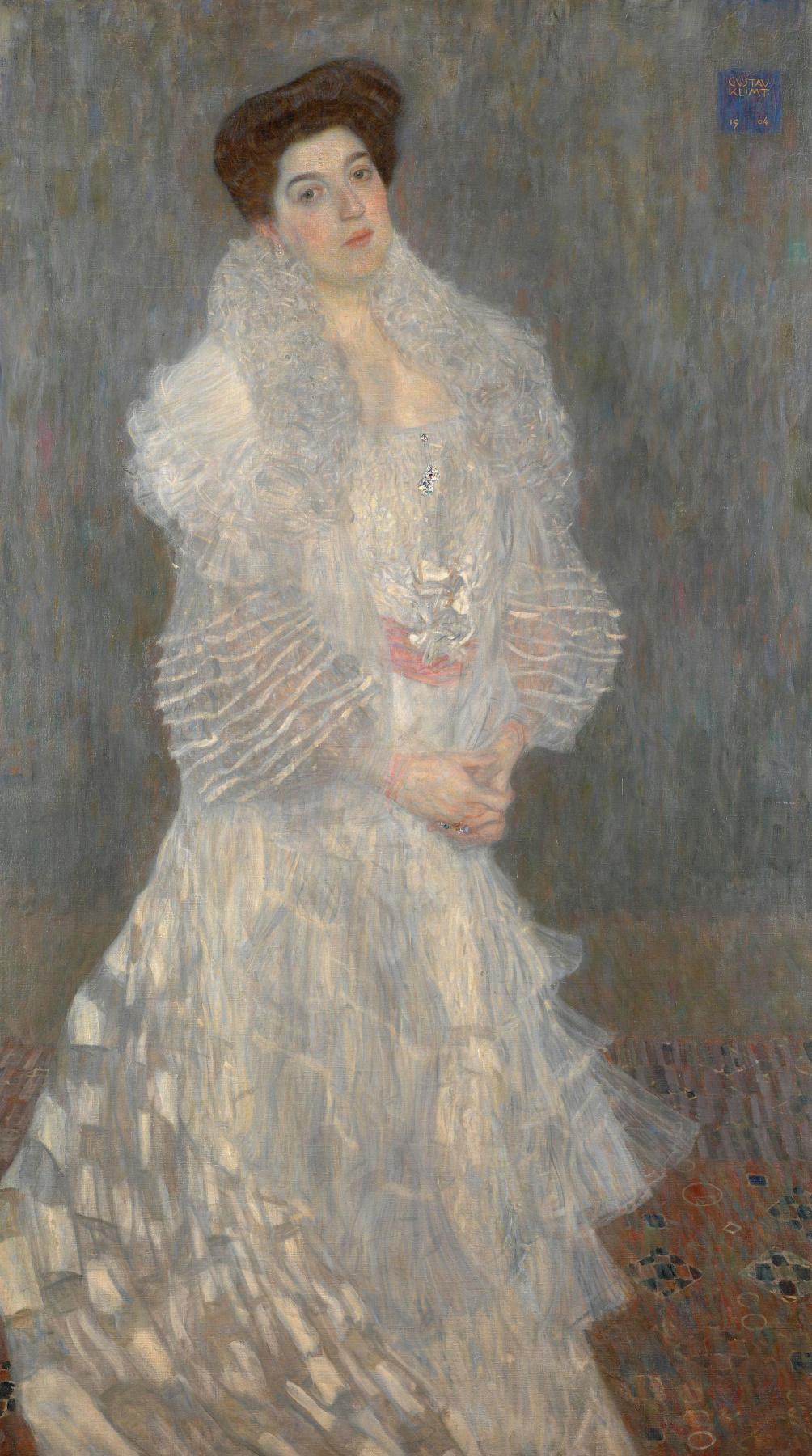 Gustav Klimt. Portrait Of Hermine Gallia