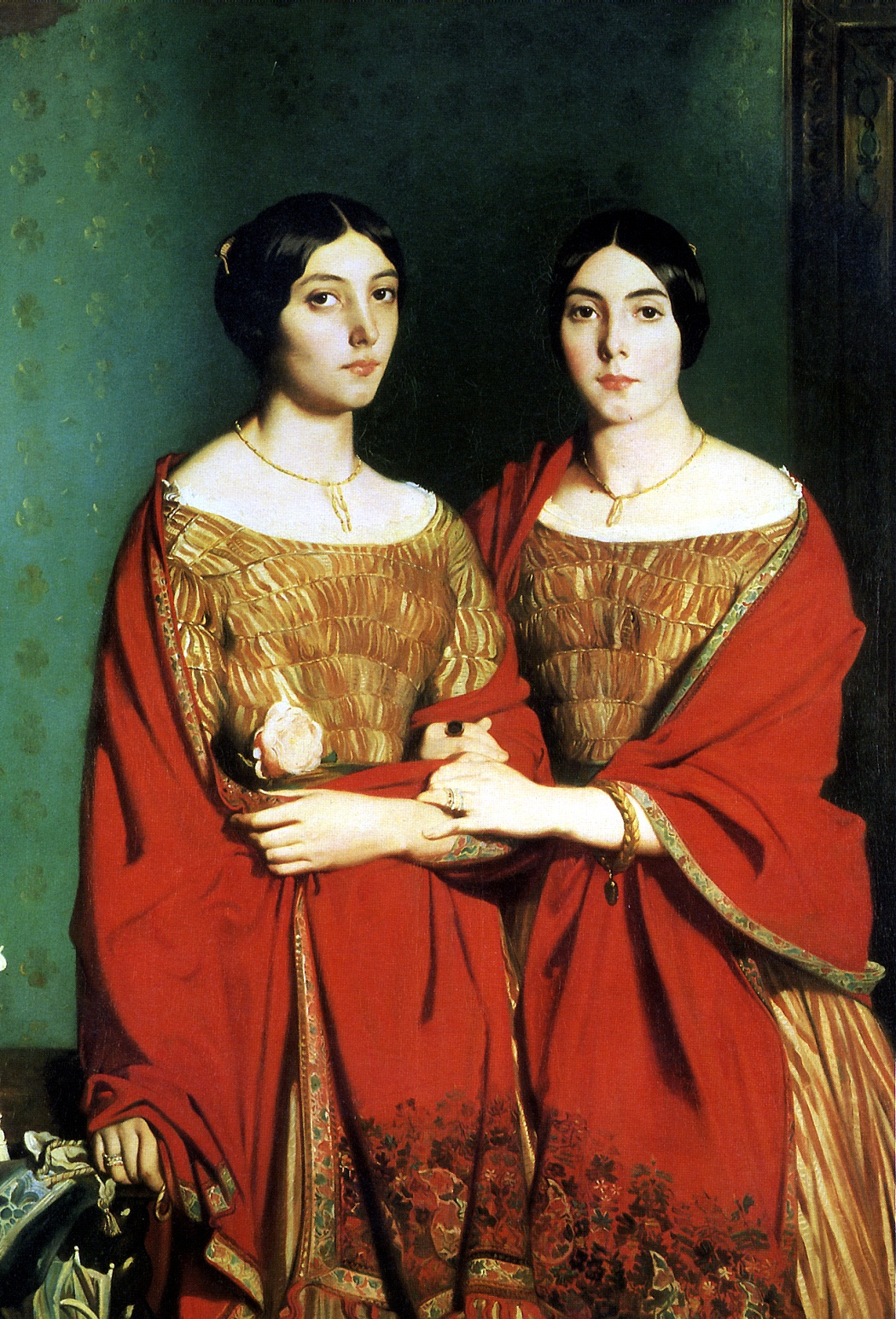 Theodore Chassiorio. Two sisters