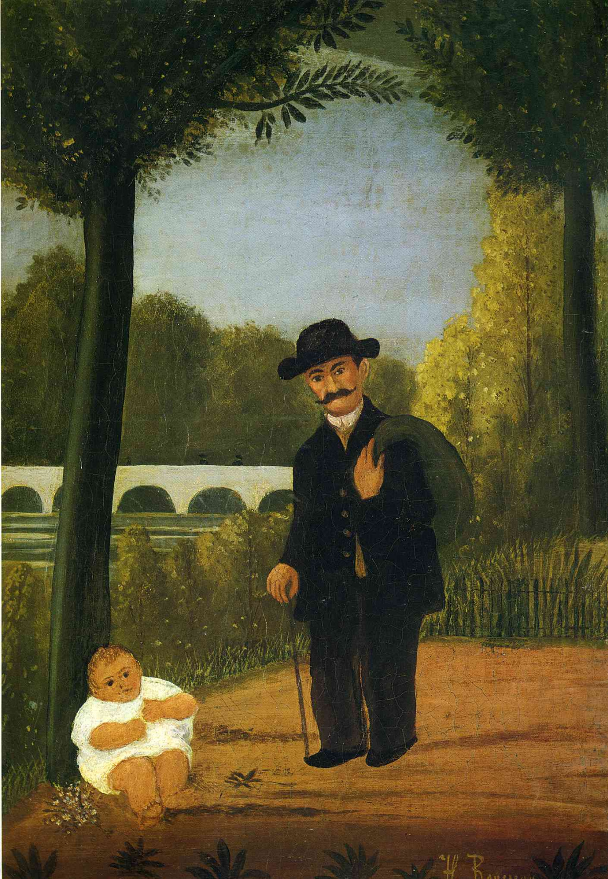 Henri Rousseau. The man and the child