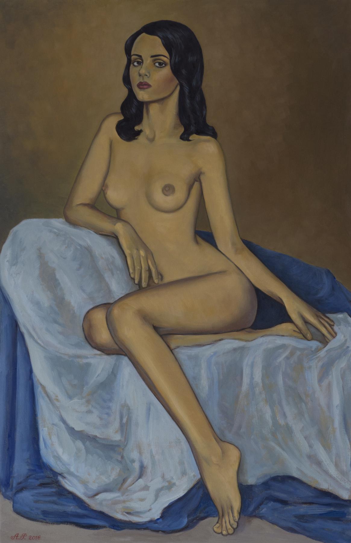 Azat Agassievich Pogosian. Femme nue assise