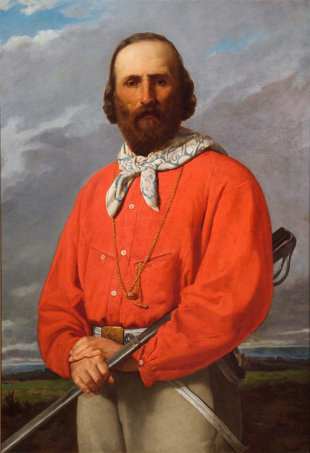 Silvestro Lega. Portrait Of Giuseppe Garibaldi