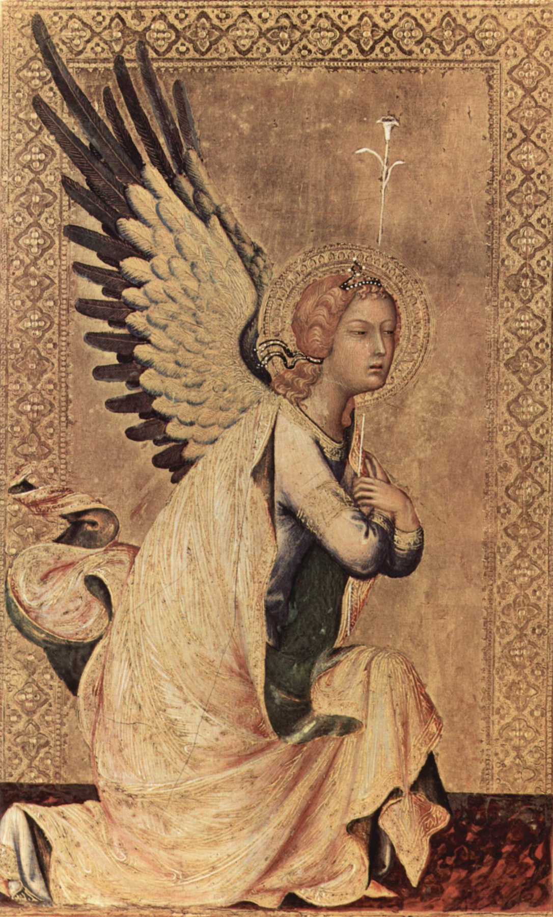 Simone Martini. The Altar Orsini. The angel of the Annunciation