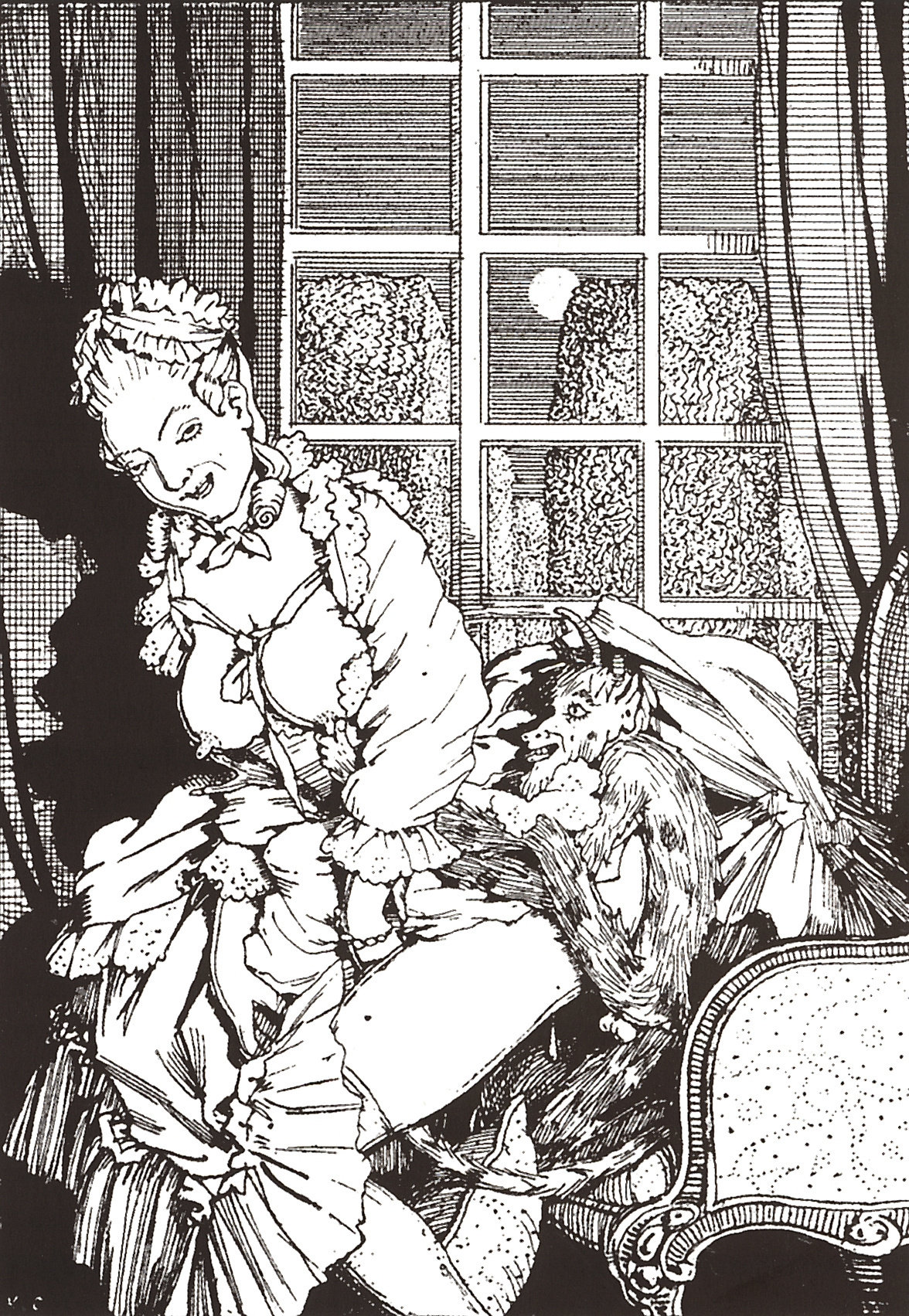 Konstantin Somov. The book of the Marquise. Illustration