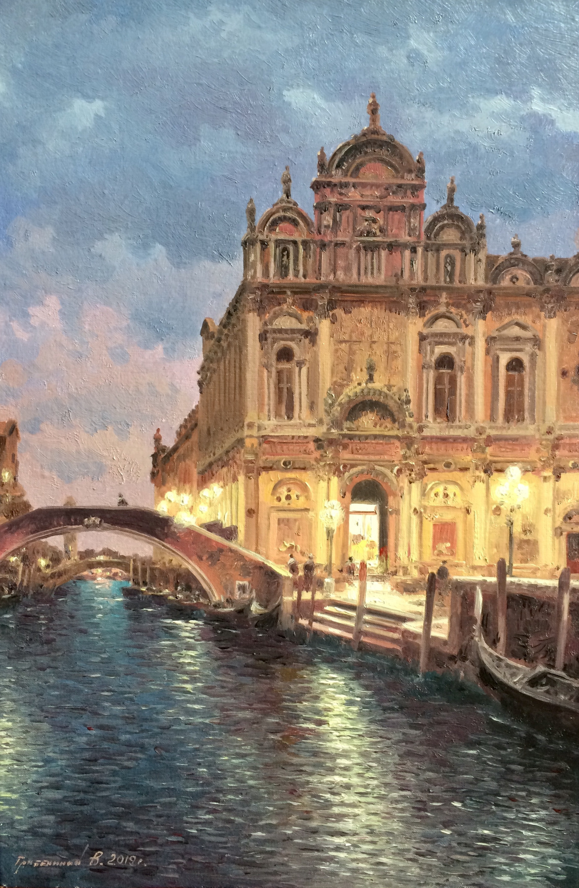 Vasily Ivanovich Gribennikov. Evening. Venice