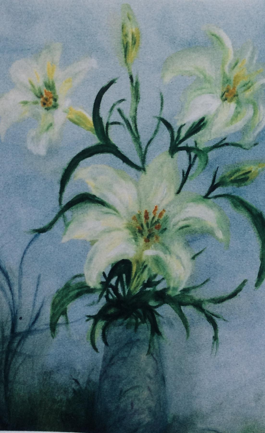 Rita Arkadievna Beckman. White lilies