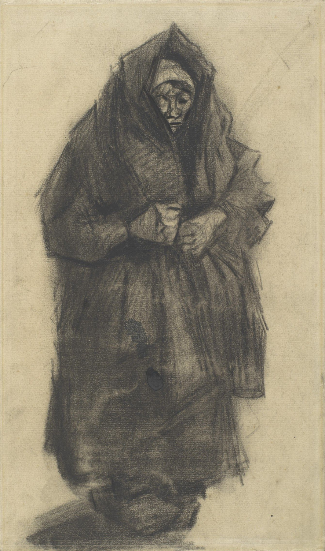 Vincent van Gogh. Woman with a mourning shawl