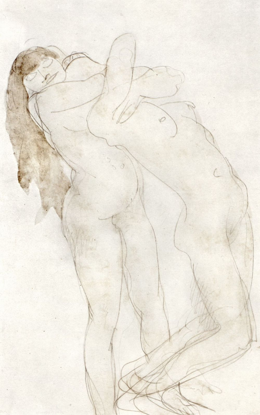 Auguste Rodin. Two Nudes