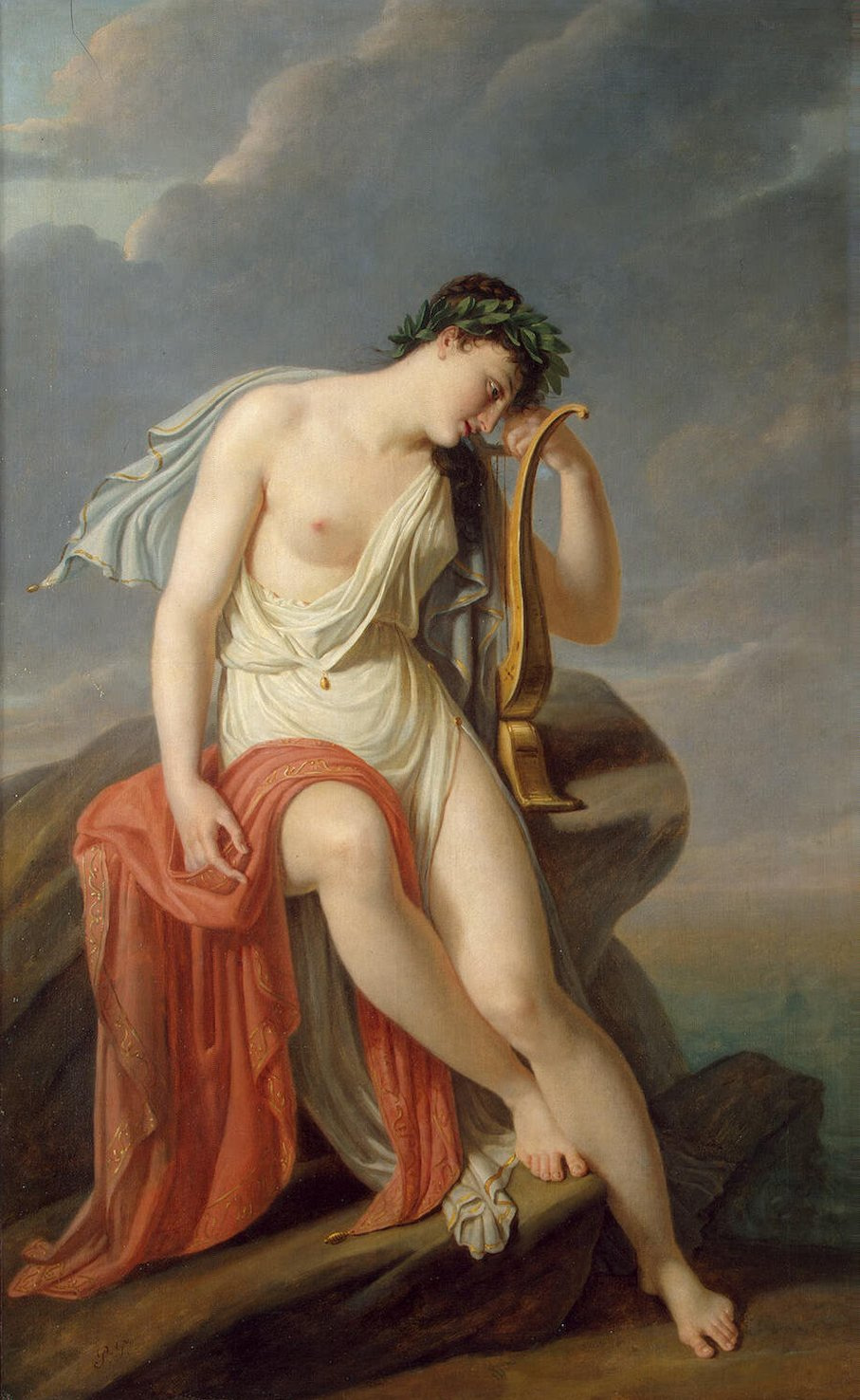 Pierre-Narsis Guerin. Sappho on the Leucadian cliff