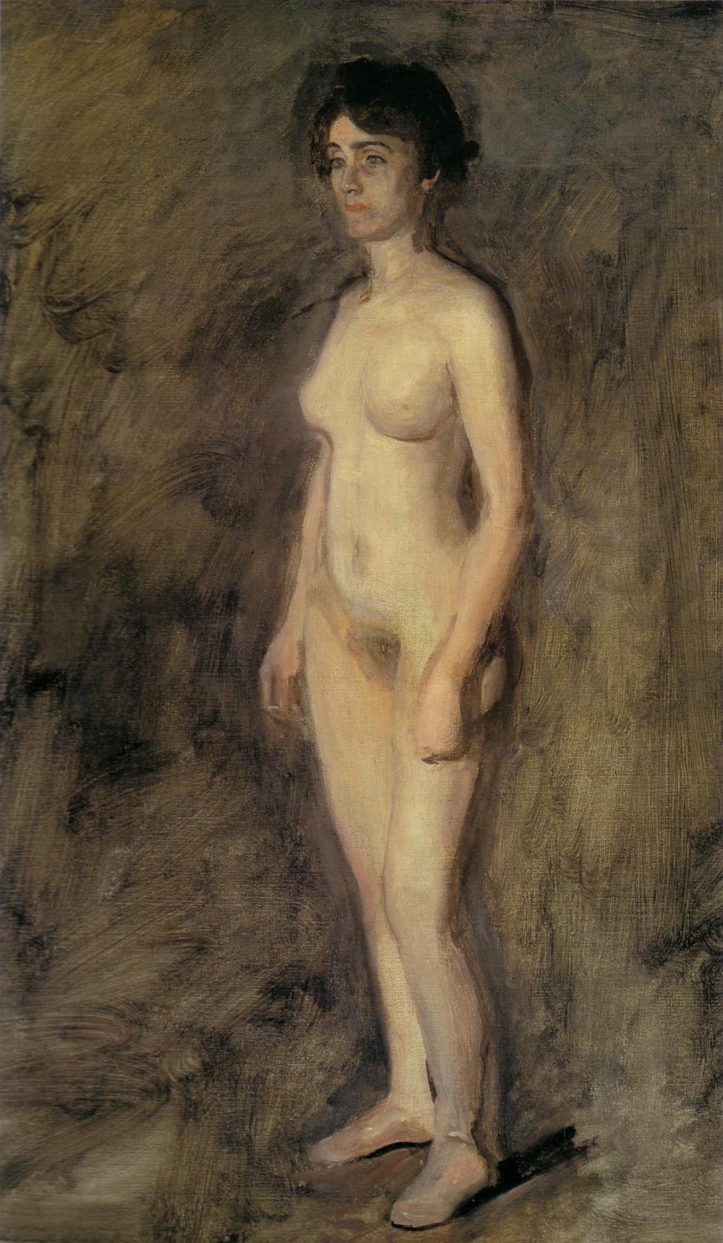 Thomas Eakins. Standing Nude woman