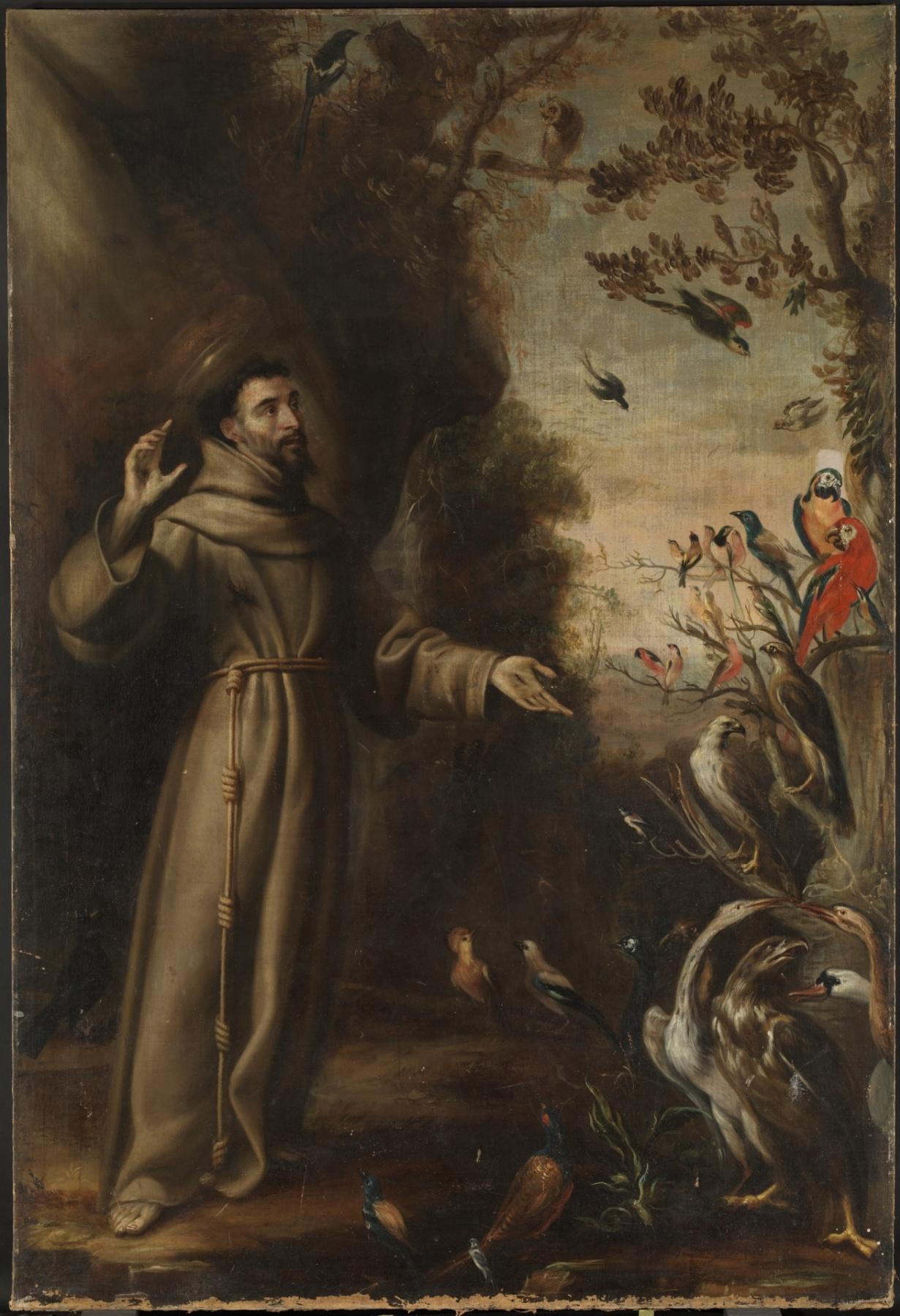 Juan Carreno de Miranda. Святой Франциск проповедует птицам