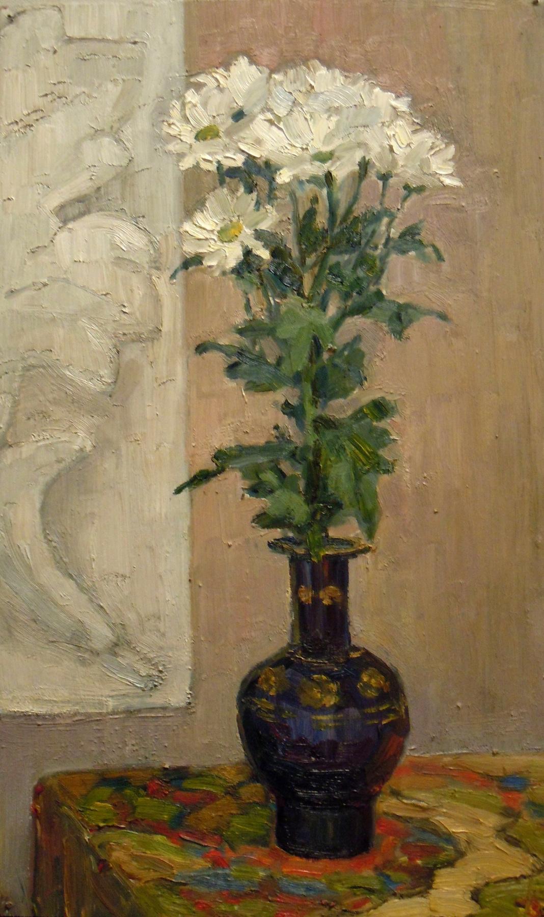 Vera Alekseevna Emelyanova. White chrysanthemum