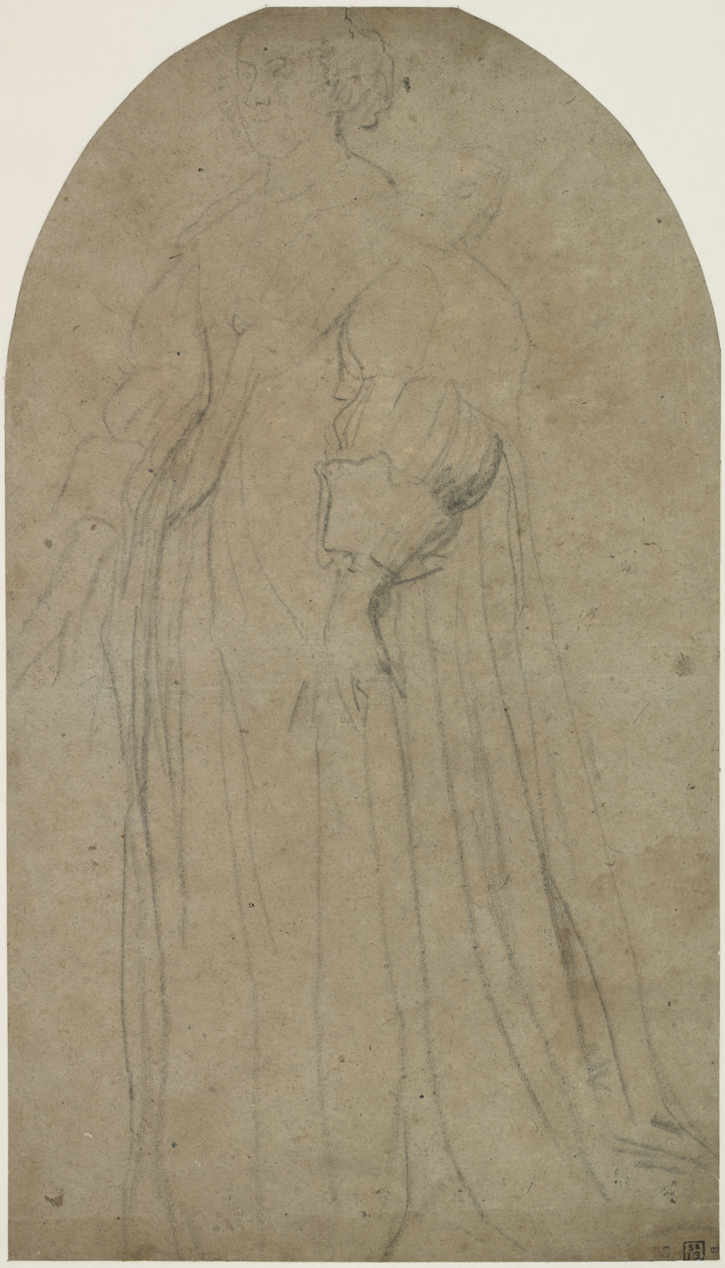 Anthony van Dyck. Sketch for the portrait of Henrietta of Lorraine