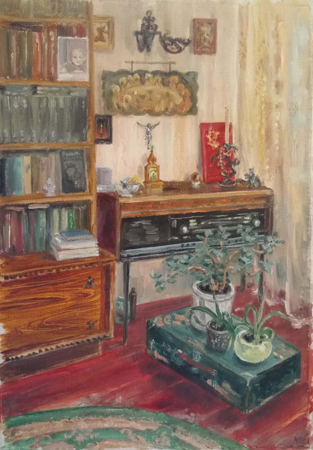 Christina Shchekina. Lover's corner