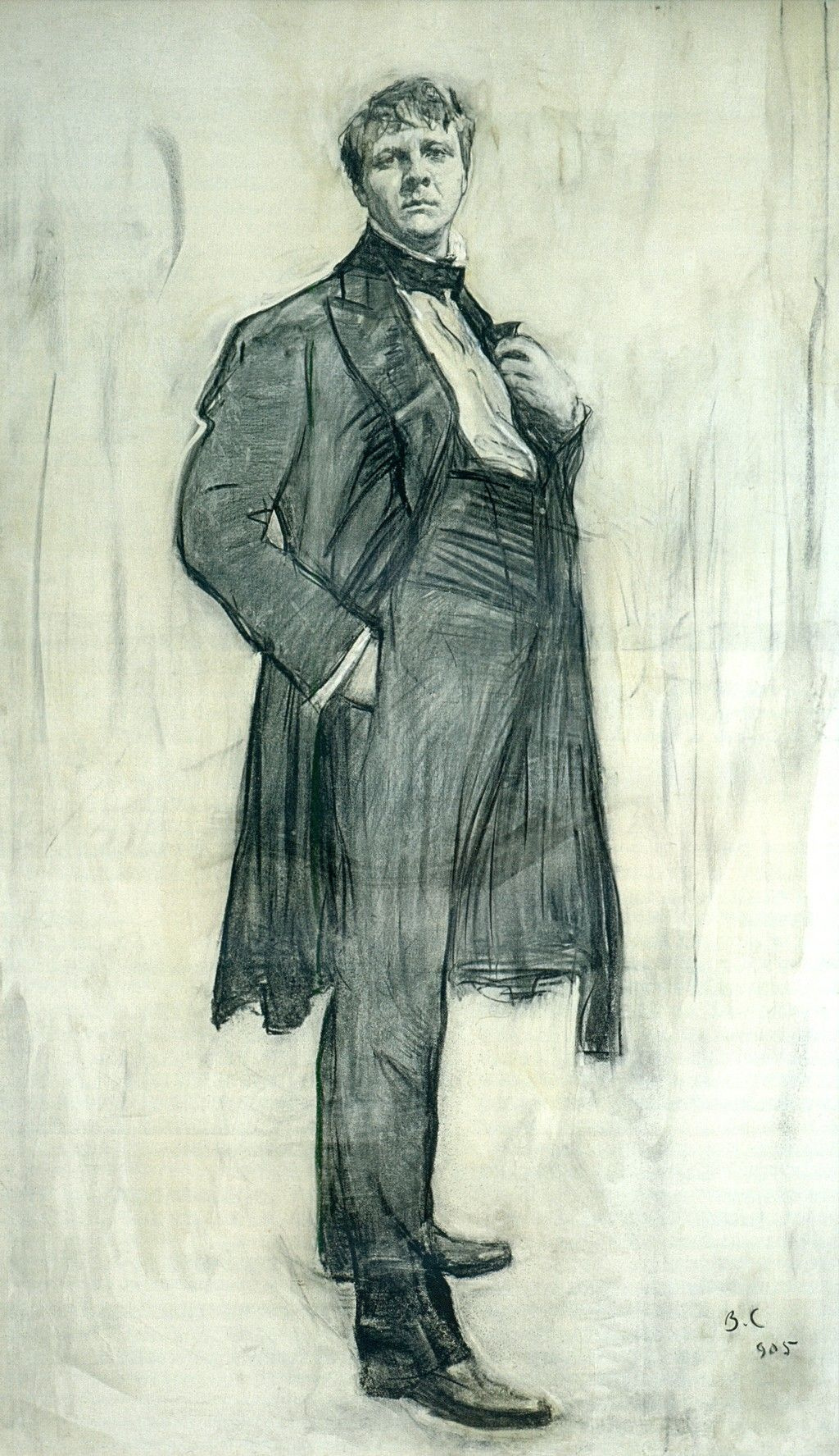 Valentin Aleksandrovich Serov. Portrait of the actor F. I. Shalyapin