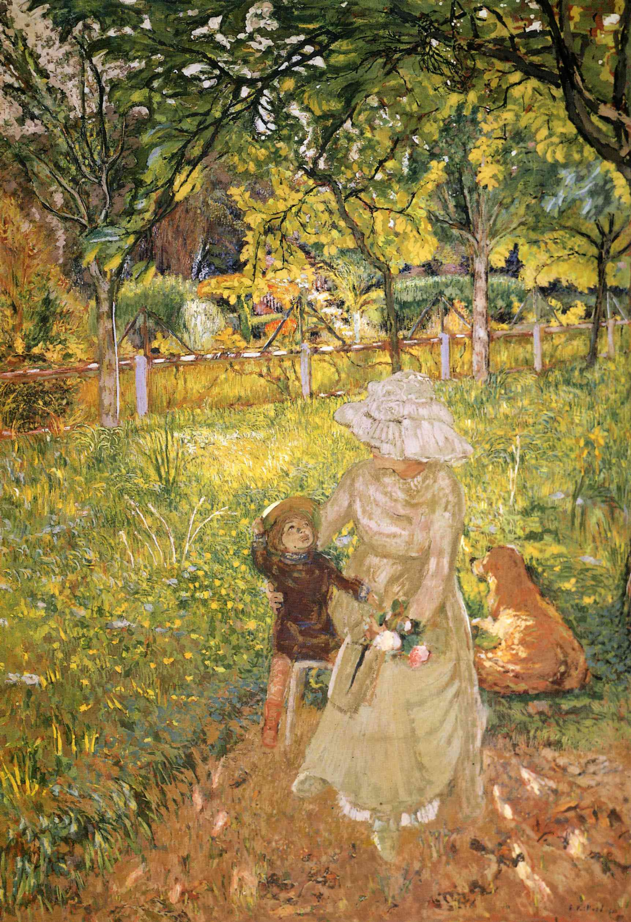 Jean Edouard Vuillard. Sunny morning. Lucy Hessel and Denise Natanson in the garden at Le Pavillons, Villerville