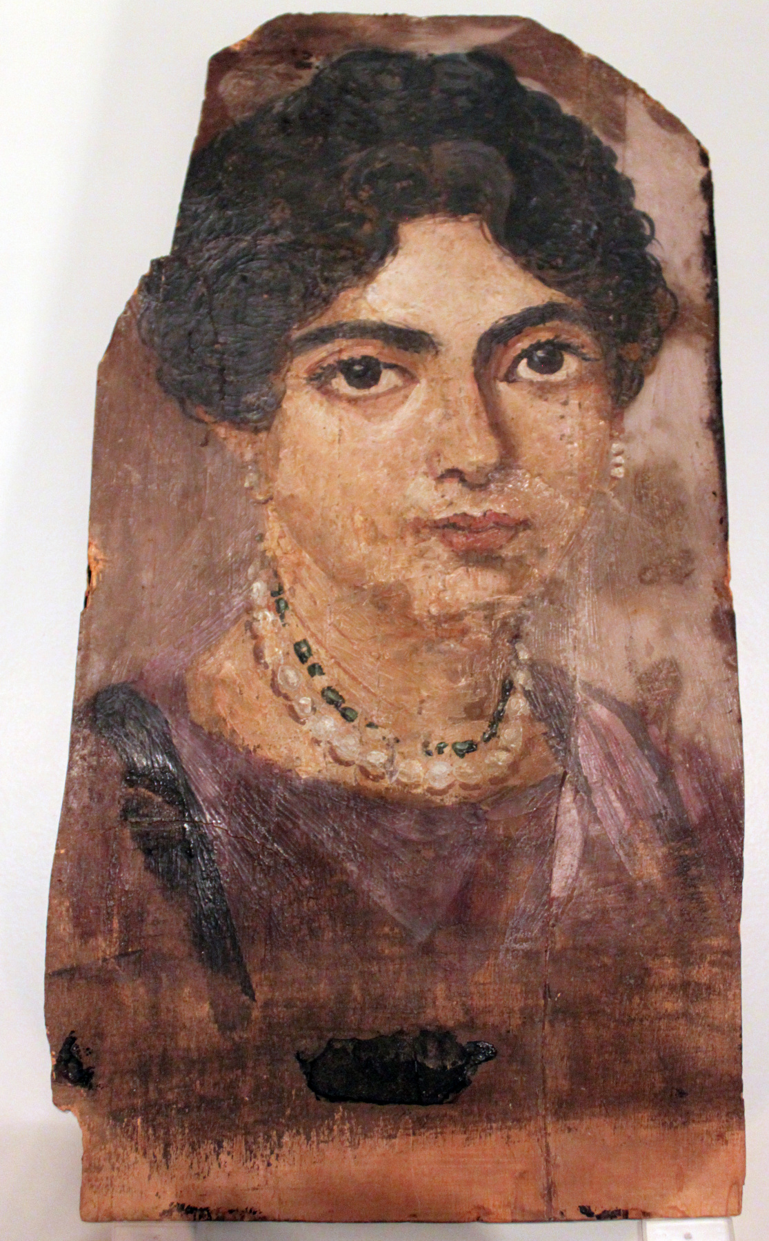 Masterpieces of unknown artists. Portrait of a rich lady (Fayum portrait)