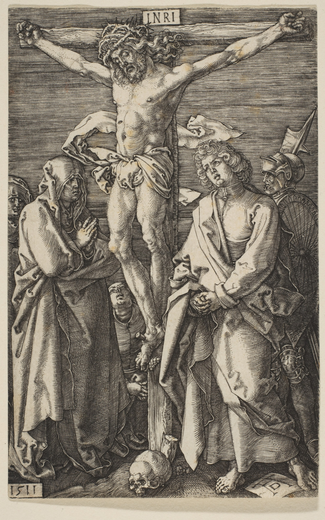 "Albrecht Durer. The crucifixion. From the cycle ""the passion of the Christ"""