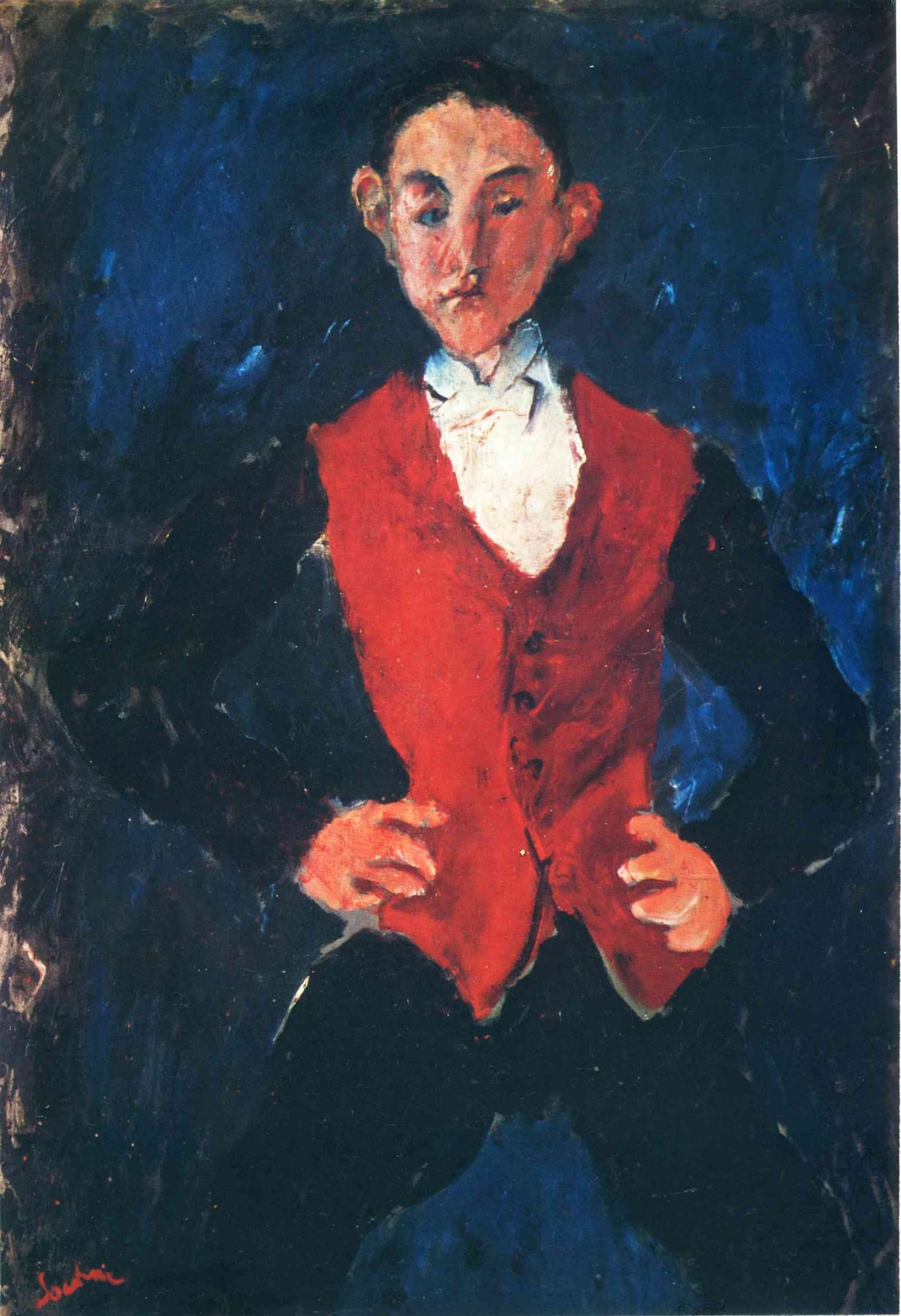 Chaim Soutine. Portrait of a boy
