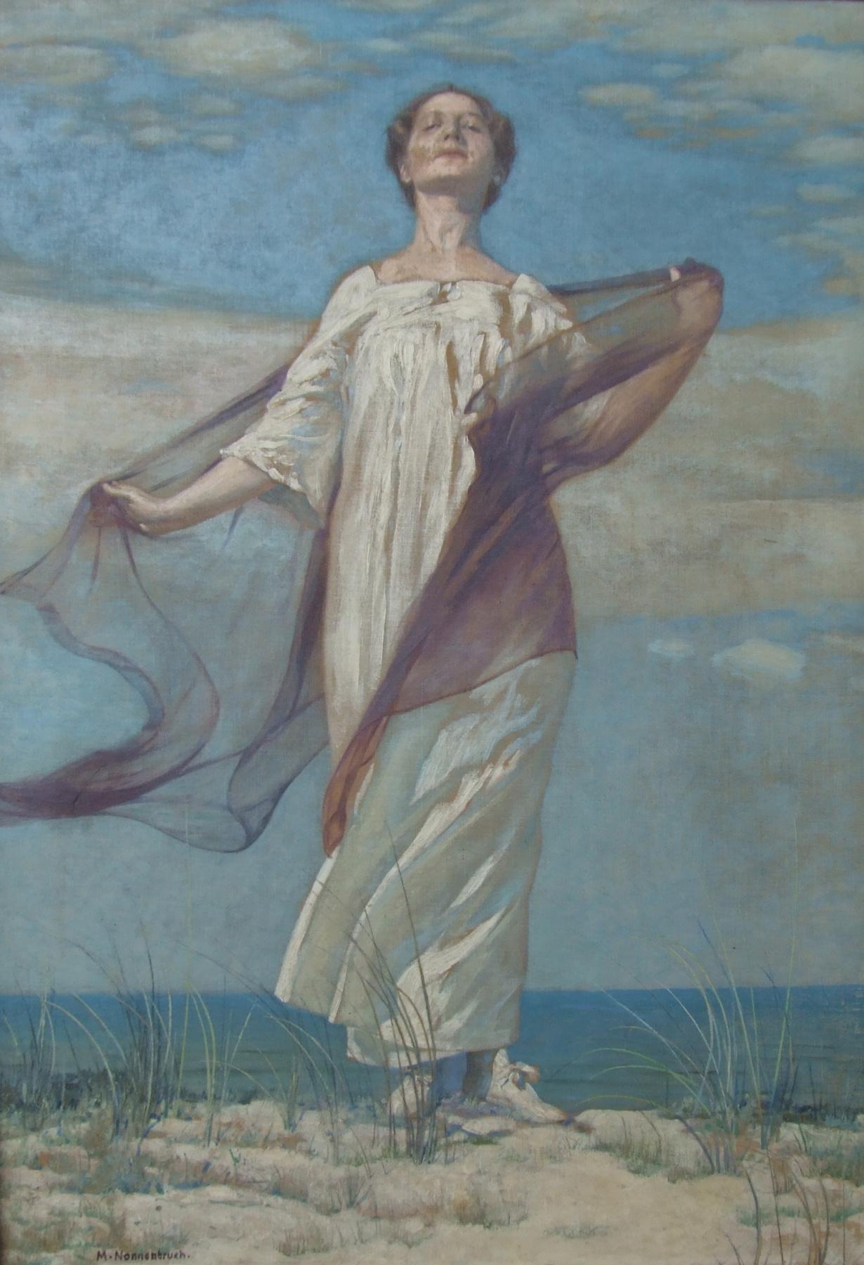 Max Nonnenbruch. Woman On A Dune