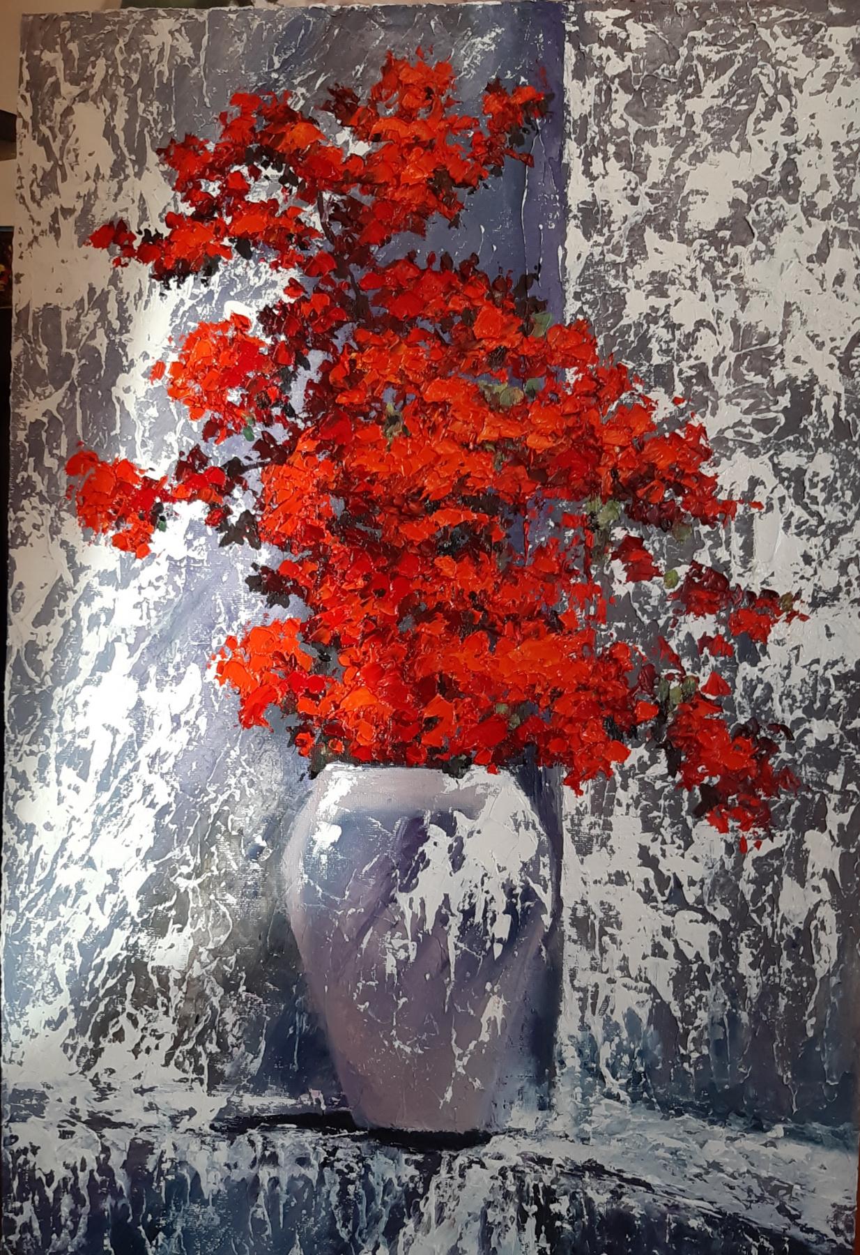 """Elena Nikolaevna Gorbunova. """"flowers in a vase"""""""