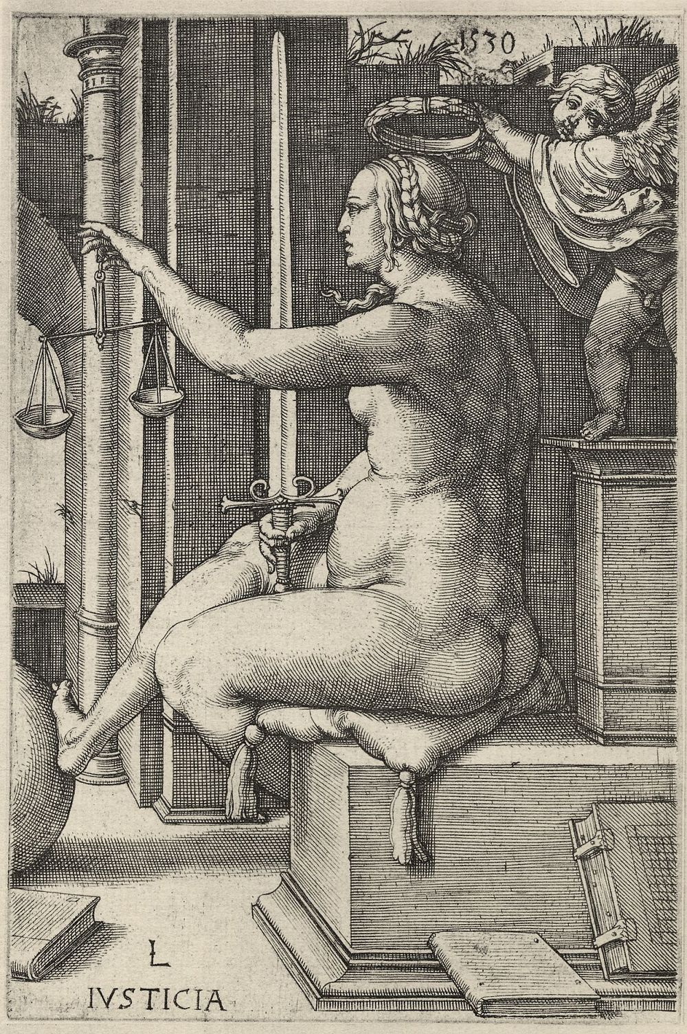 "Lucas van Leiden (Luke of Leiden). A Series Of""Virtues"" - Justice"