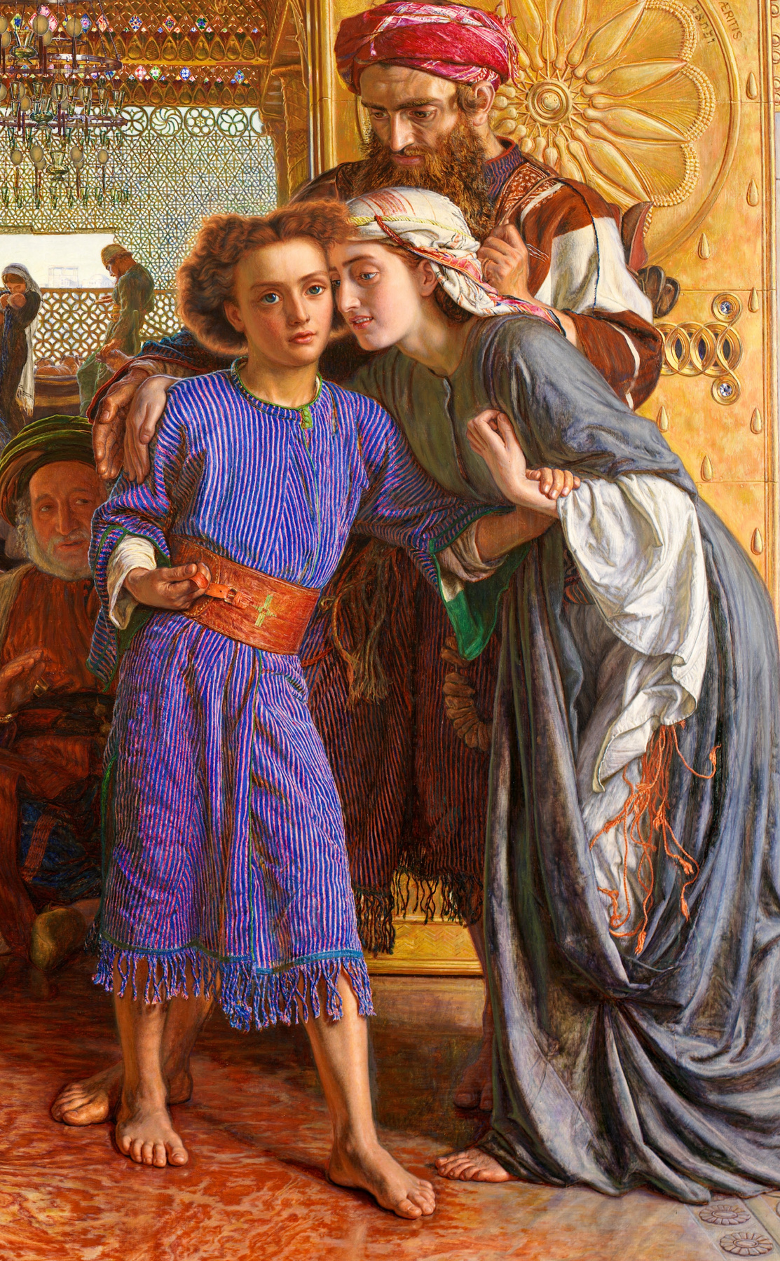 William Holman Hunt. The finding of the Saviour in the temple. Fragment