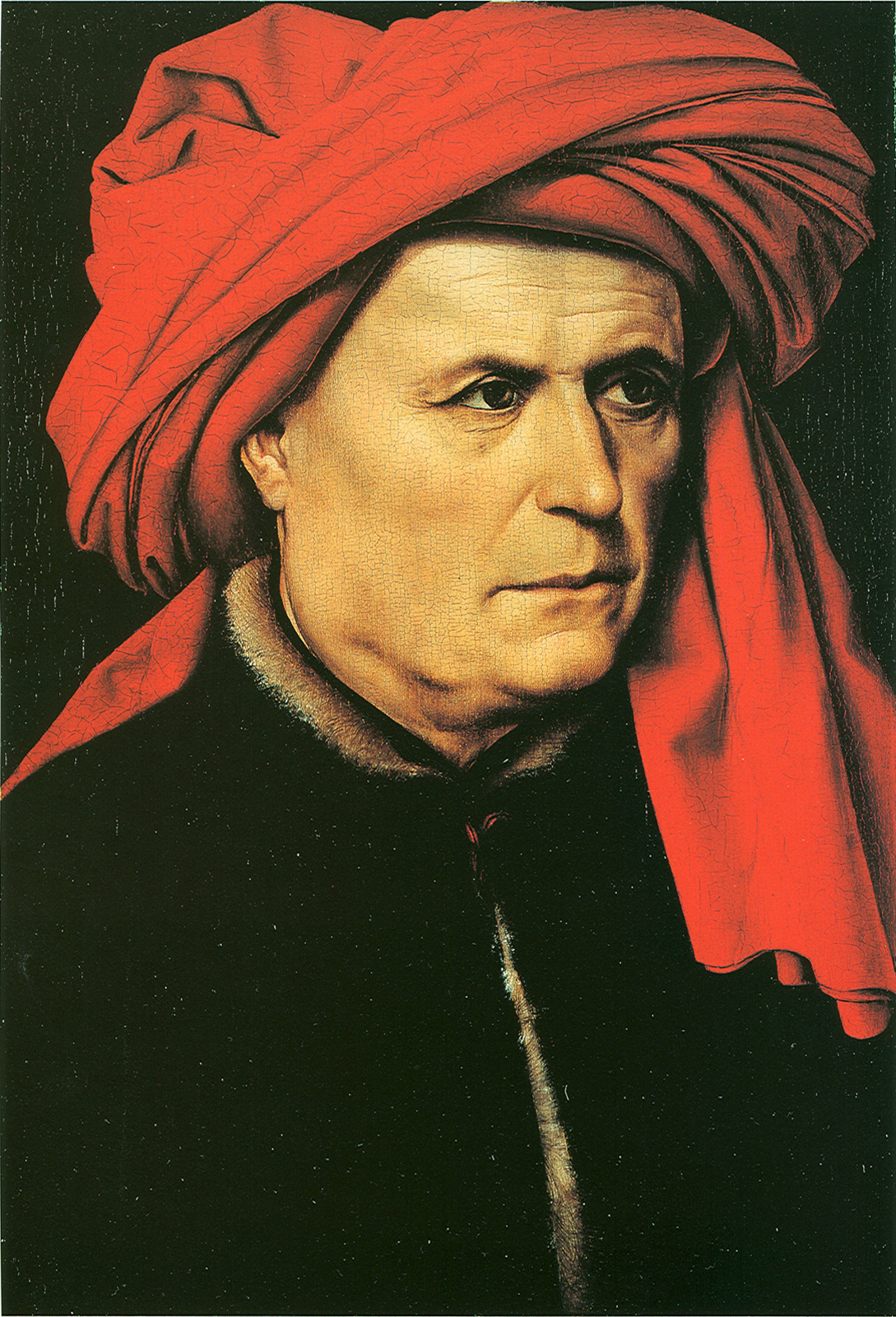 Robert Kampen. Portrait of a man in a red turban