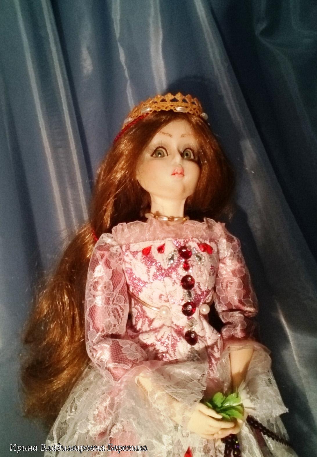 """Ирина Владимировна Березина. """"Гвиневра""""Авторская кукла, созданная на основе исторического образа"""