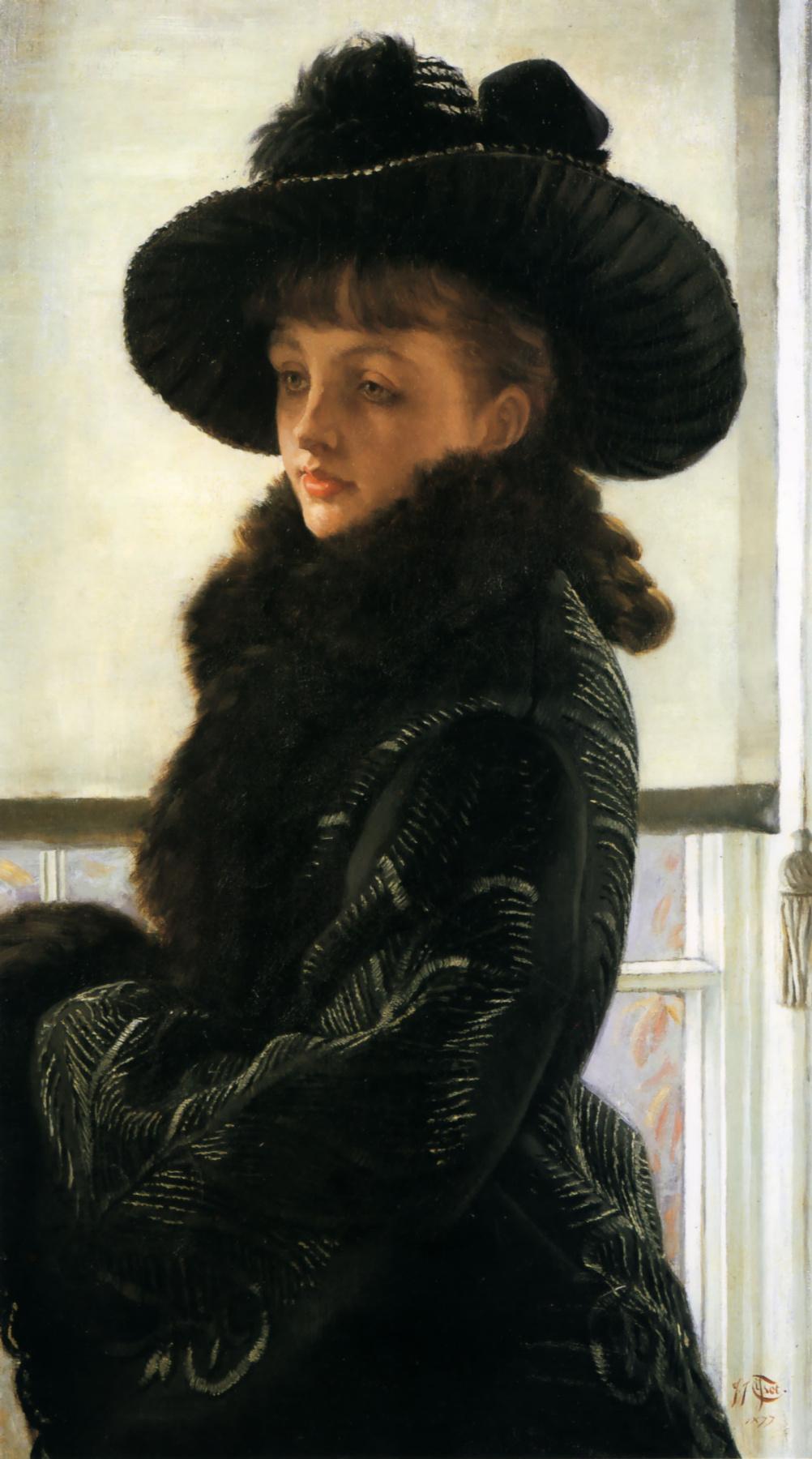 James Tissot. Portrait of a lady in black