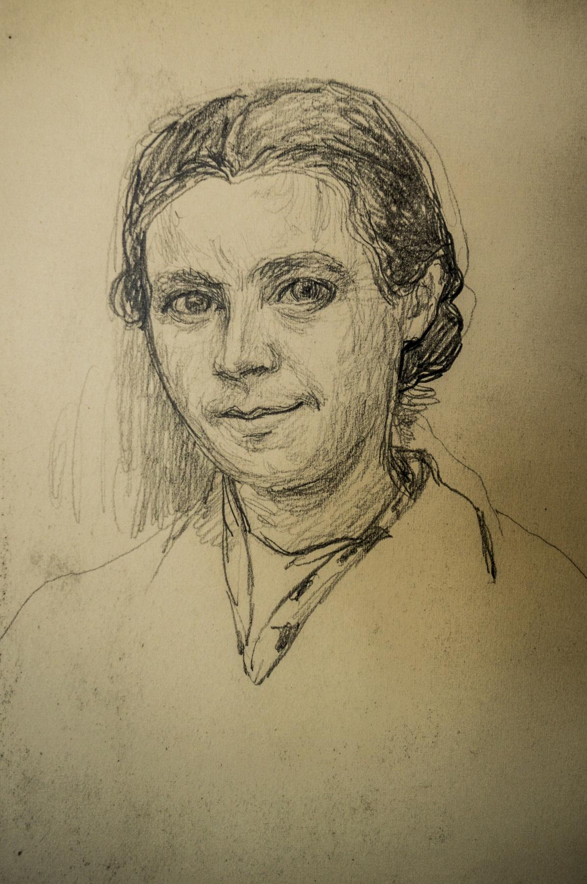Alexandra Antonovna Gladun. Self-portrait