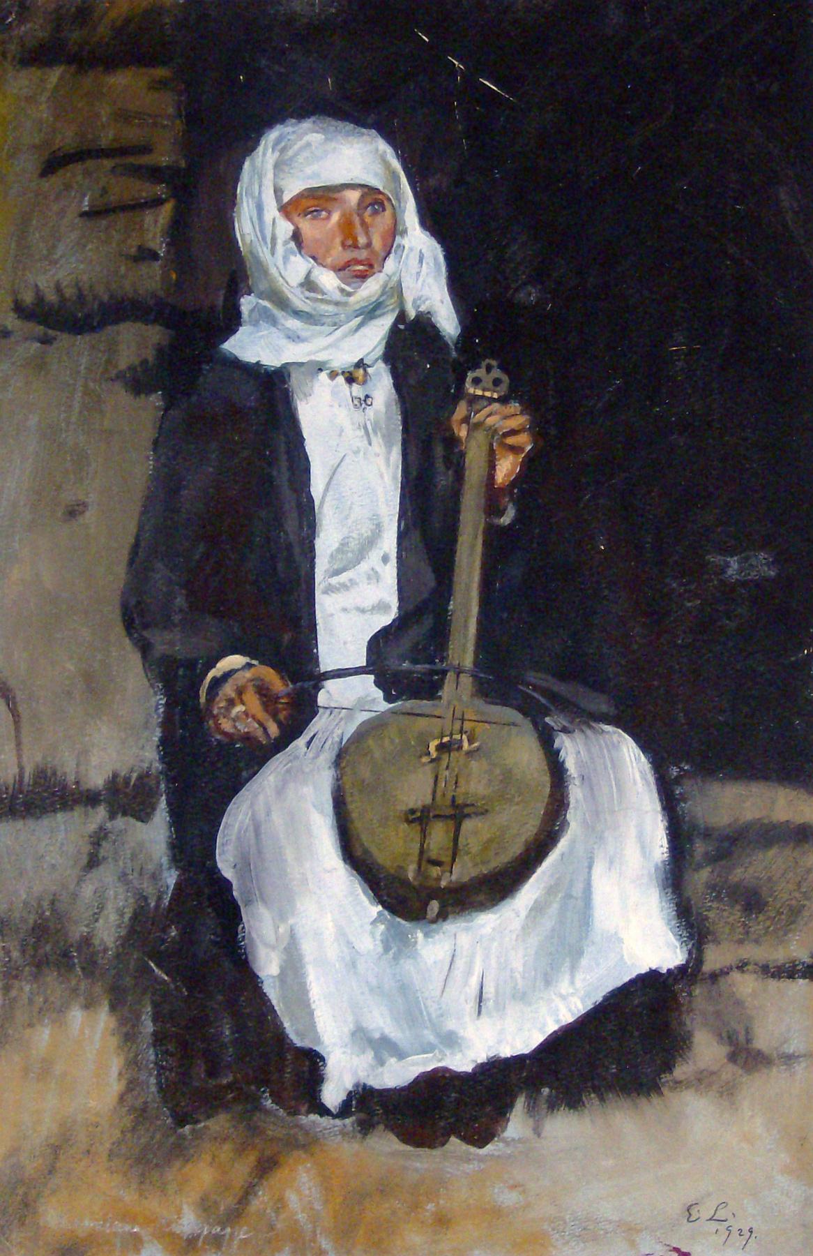 Evgeniy Evgenievich Lansere. Woman with chianuri