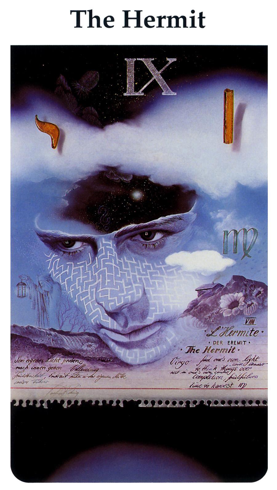 Karl Rohrig. Tarot Of The Third Millennium. The hermit
